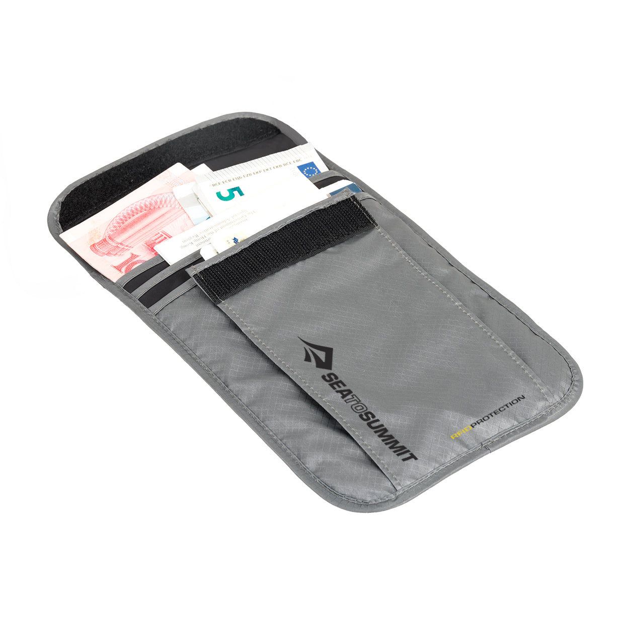 RFID Neck Pouch _ hidden passport wallet _ large