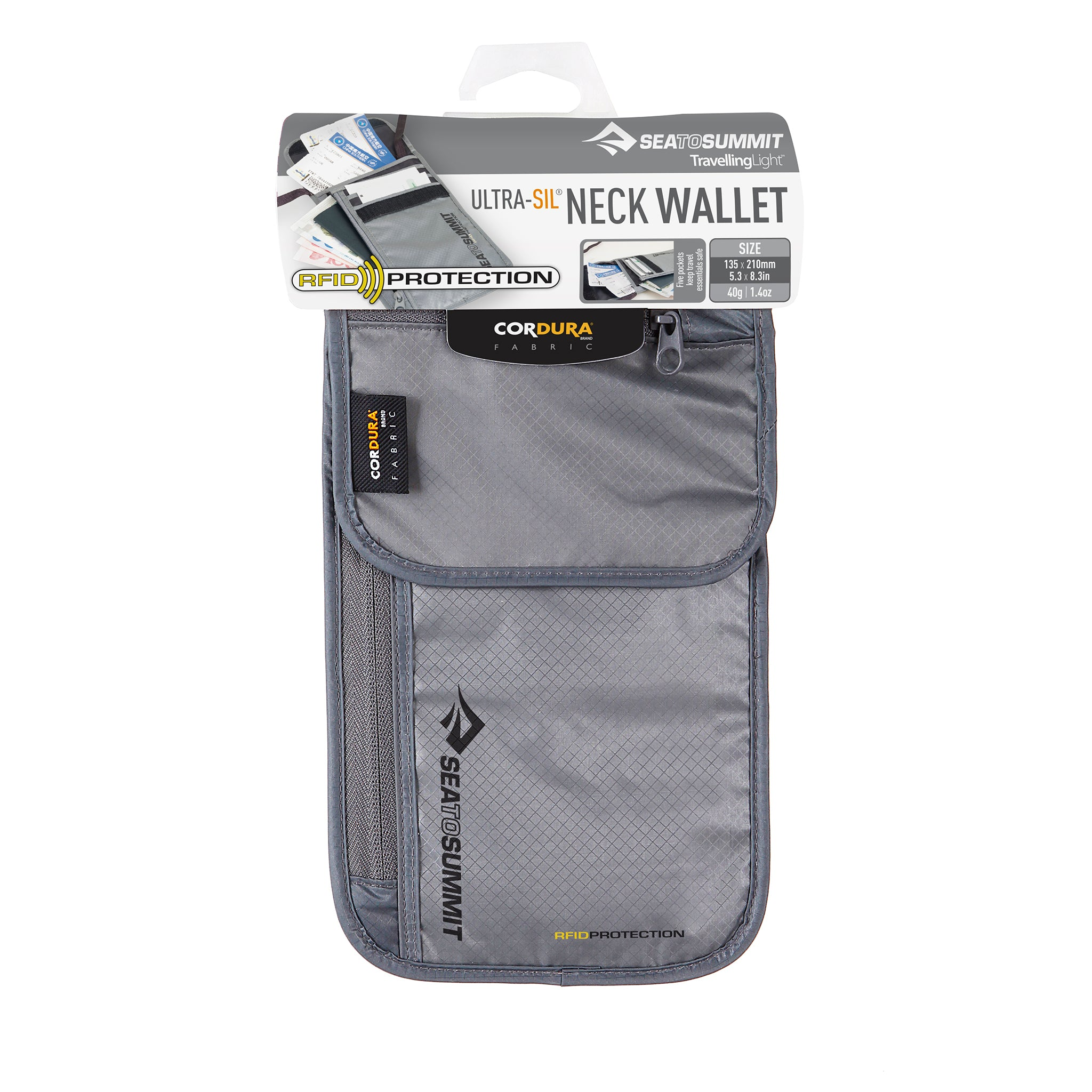 RFID Travel Neck Wallet _ protection