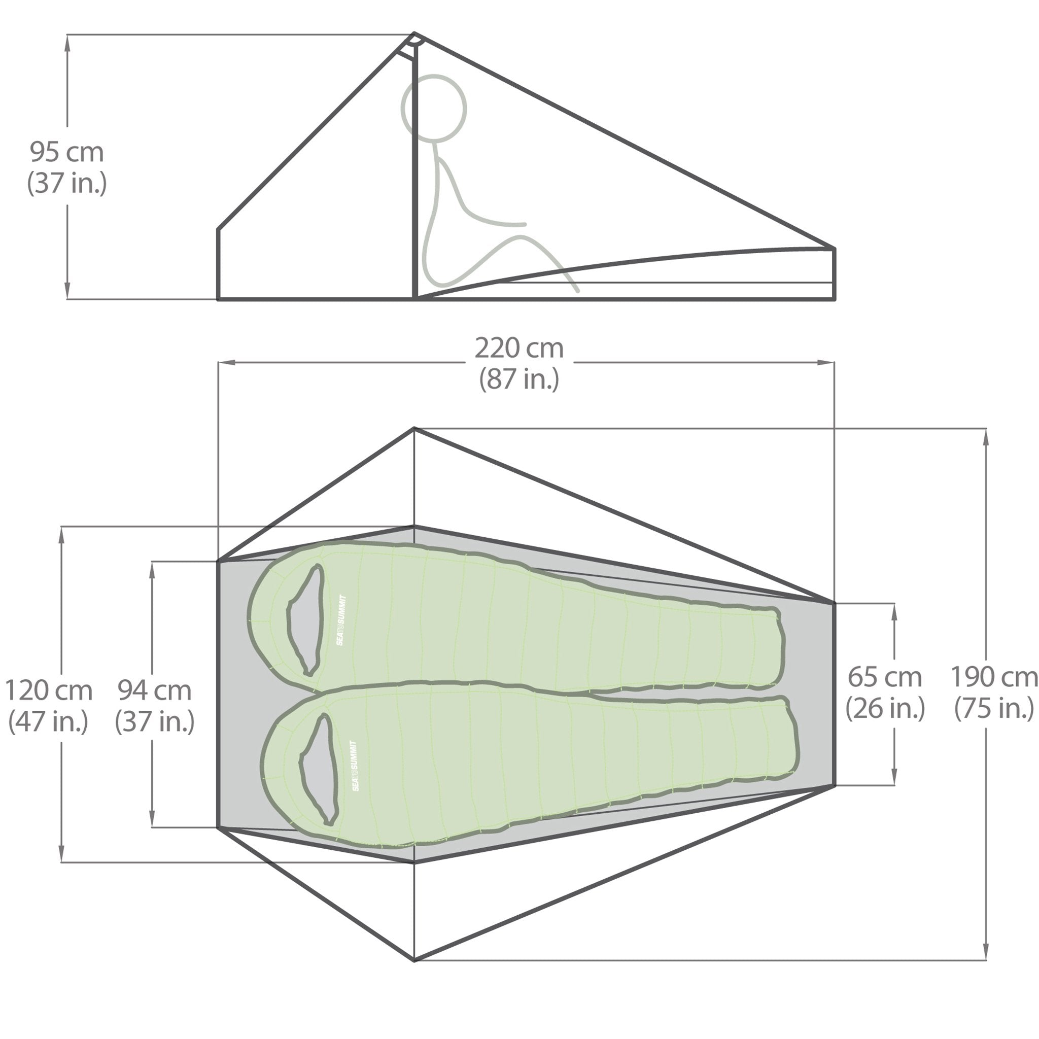 Specialist Tent _ Ultralight Backpacking Tent _ Duo _ sizing