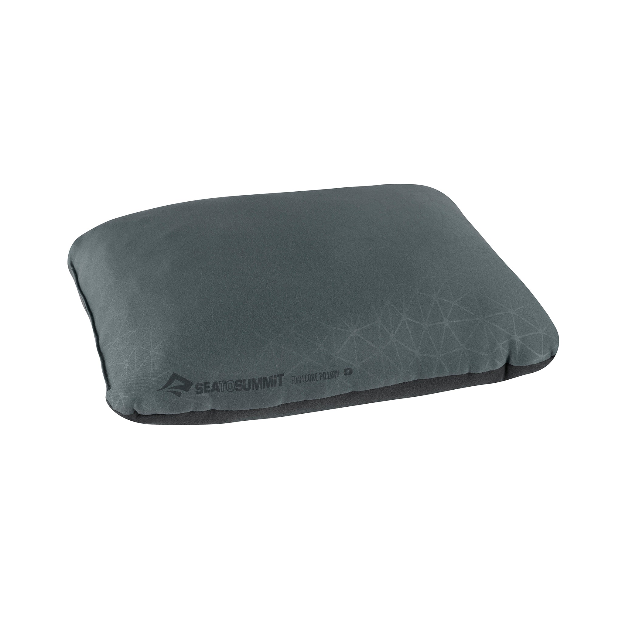 Foamcore Camping Pillow _ Grey _ Full Size _ Regular