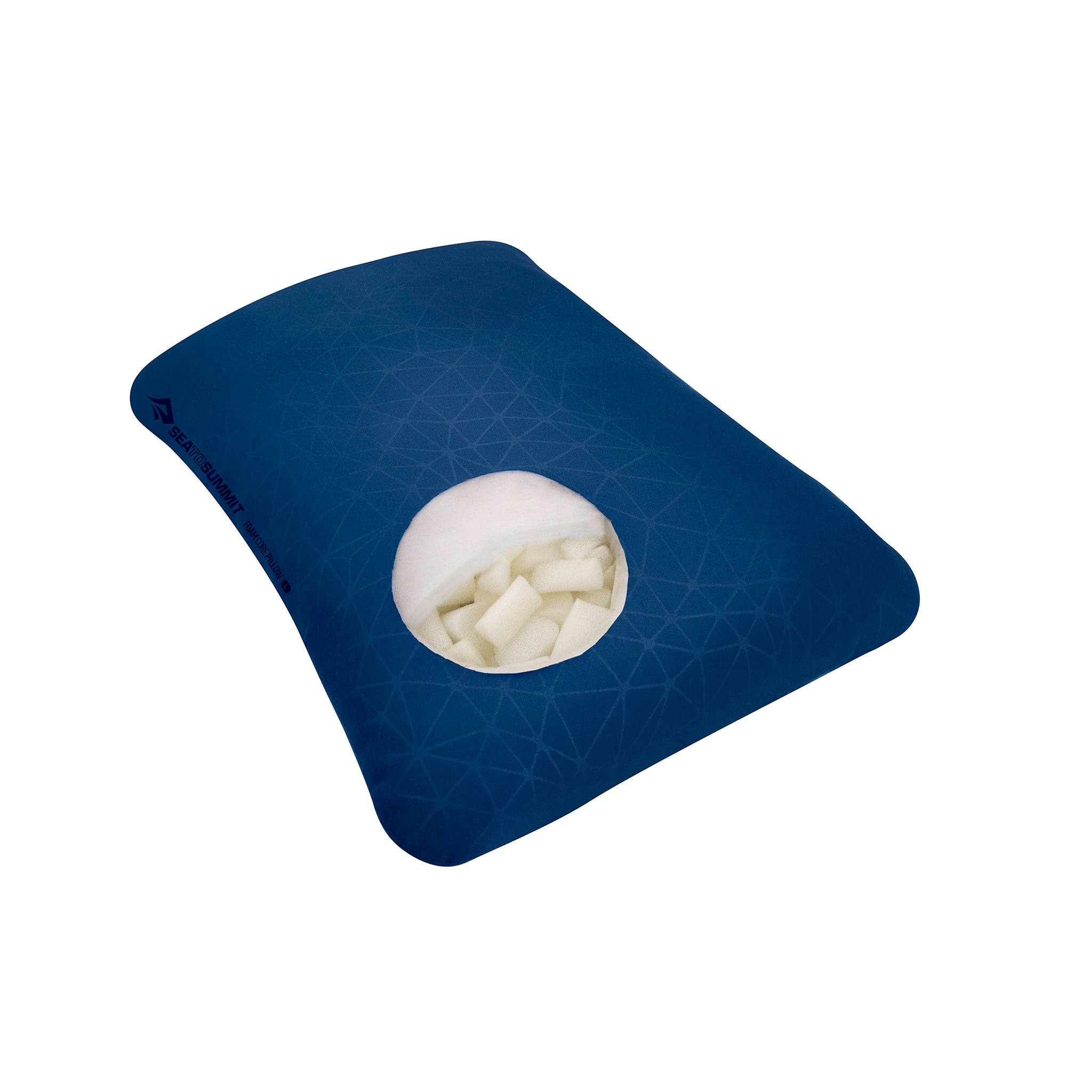 Foamcore Travel Pillow _ Navy Blue _ Full Size