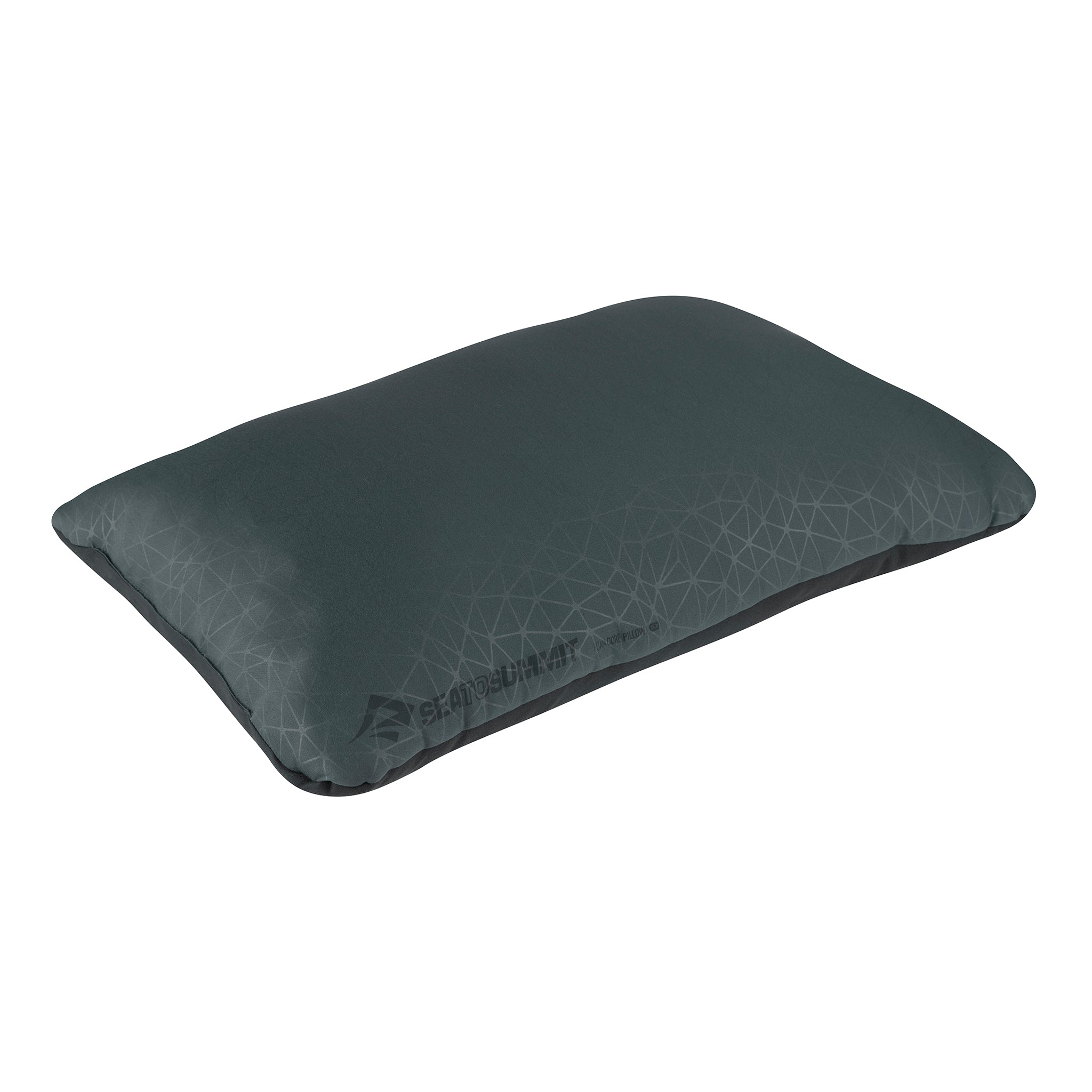 Foamcore Camping Pillow _ Grey _ Full Size _ Deluxe