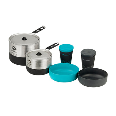 Sigma Stainless Steel Cook Set _ 2 pots, 2 bowls & 2 mugs
