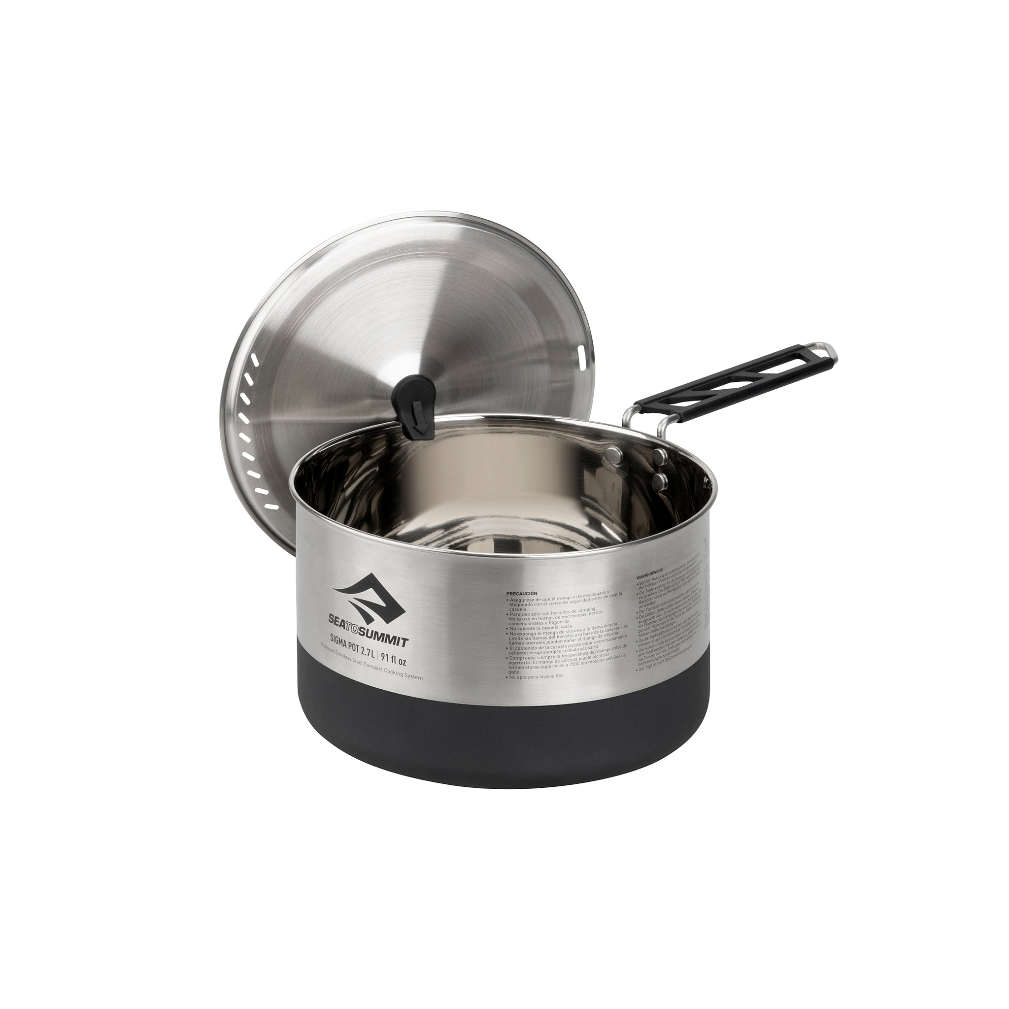 Sigma Stainless Steel Pot for Camping _ Lid Keep