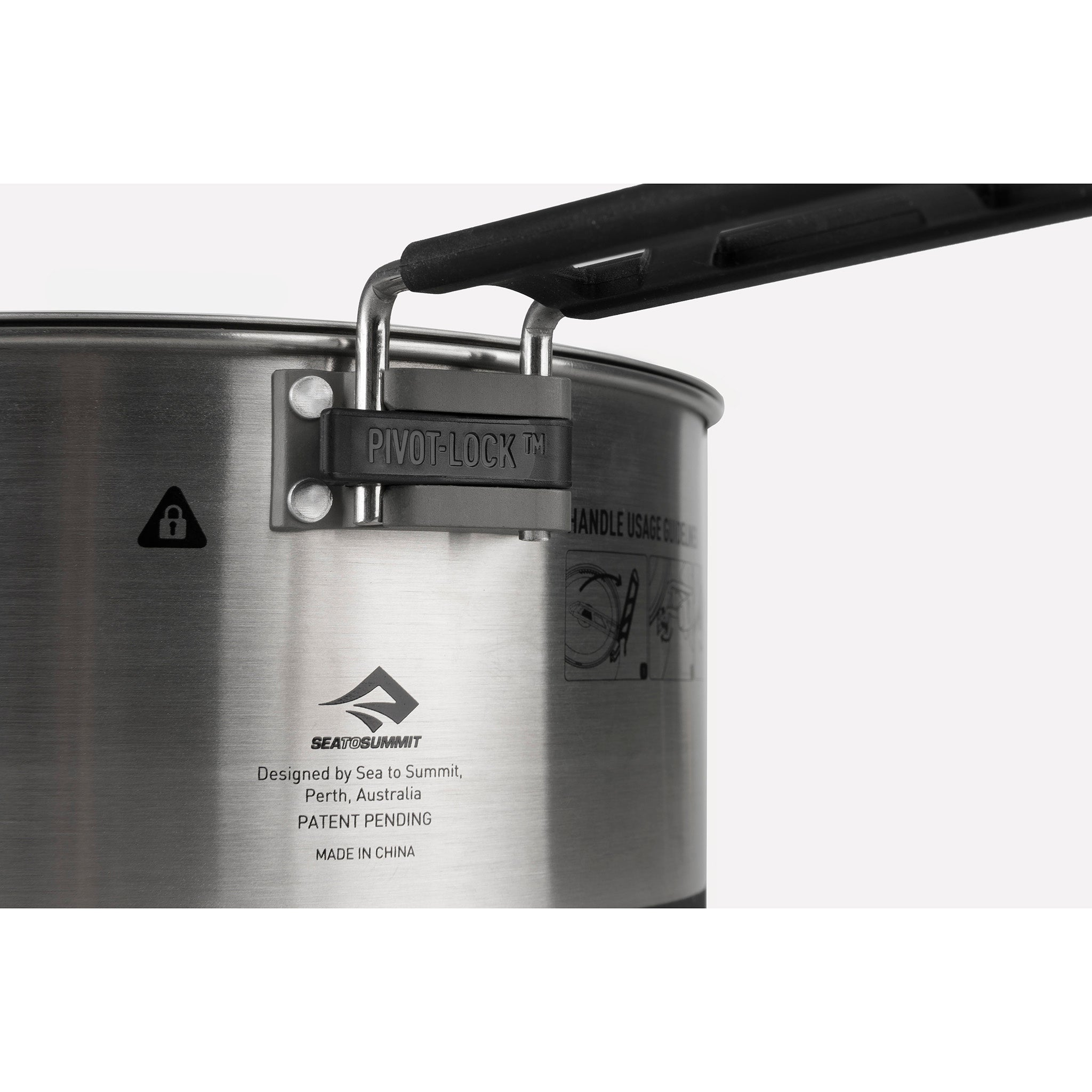 Sigma Stainless Steel Pot for Camping _ Locking Handle