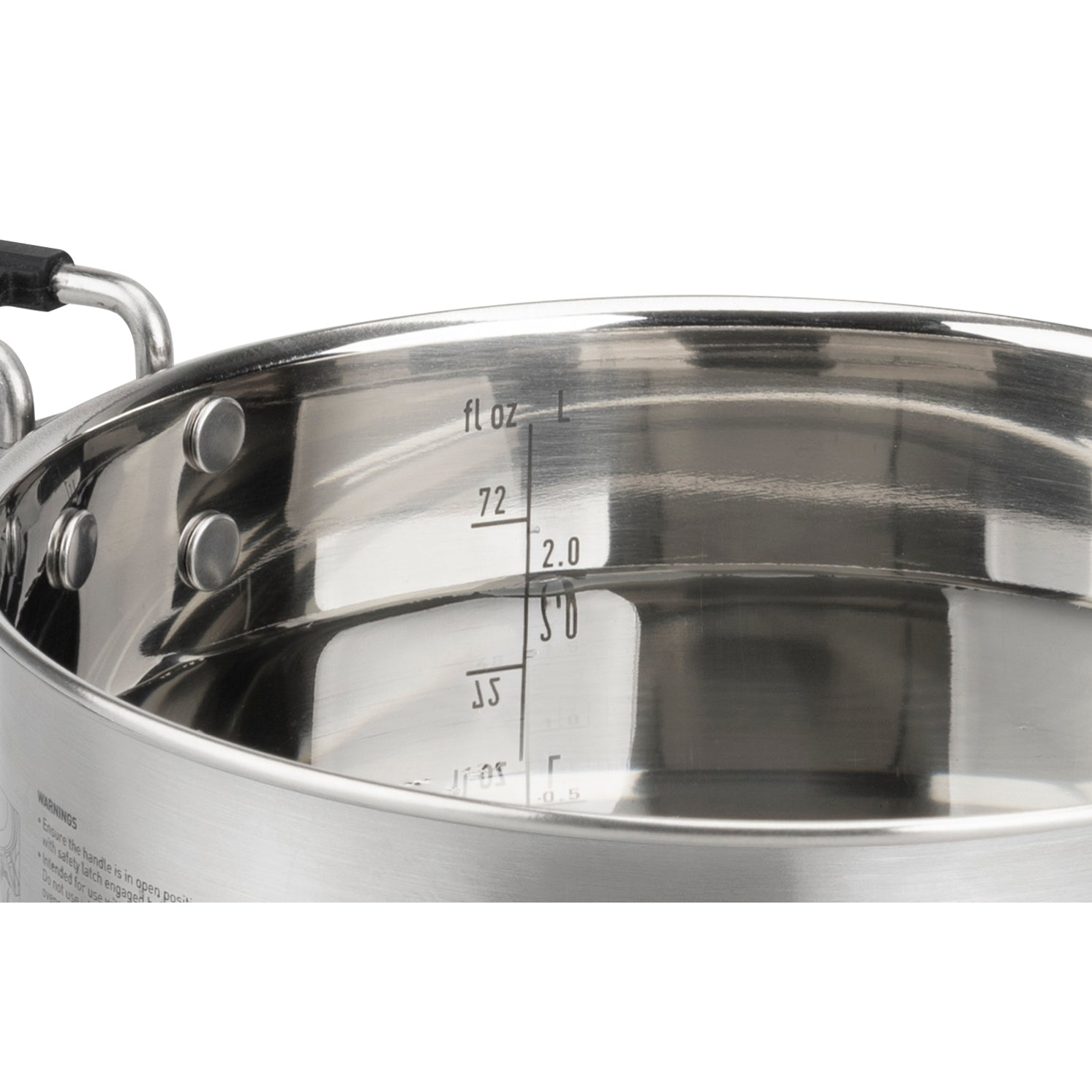 Sigma Stainless Steel Pot for Camping _ Built in Measurements
