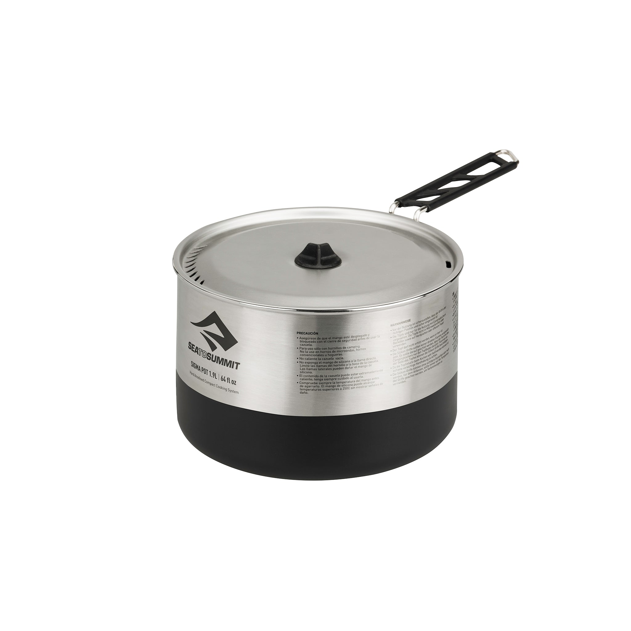 Sigma Stainless Steel Nesting Pot for Camping _ 1.9 Liter