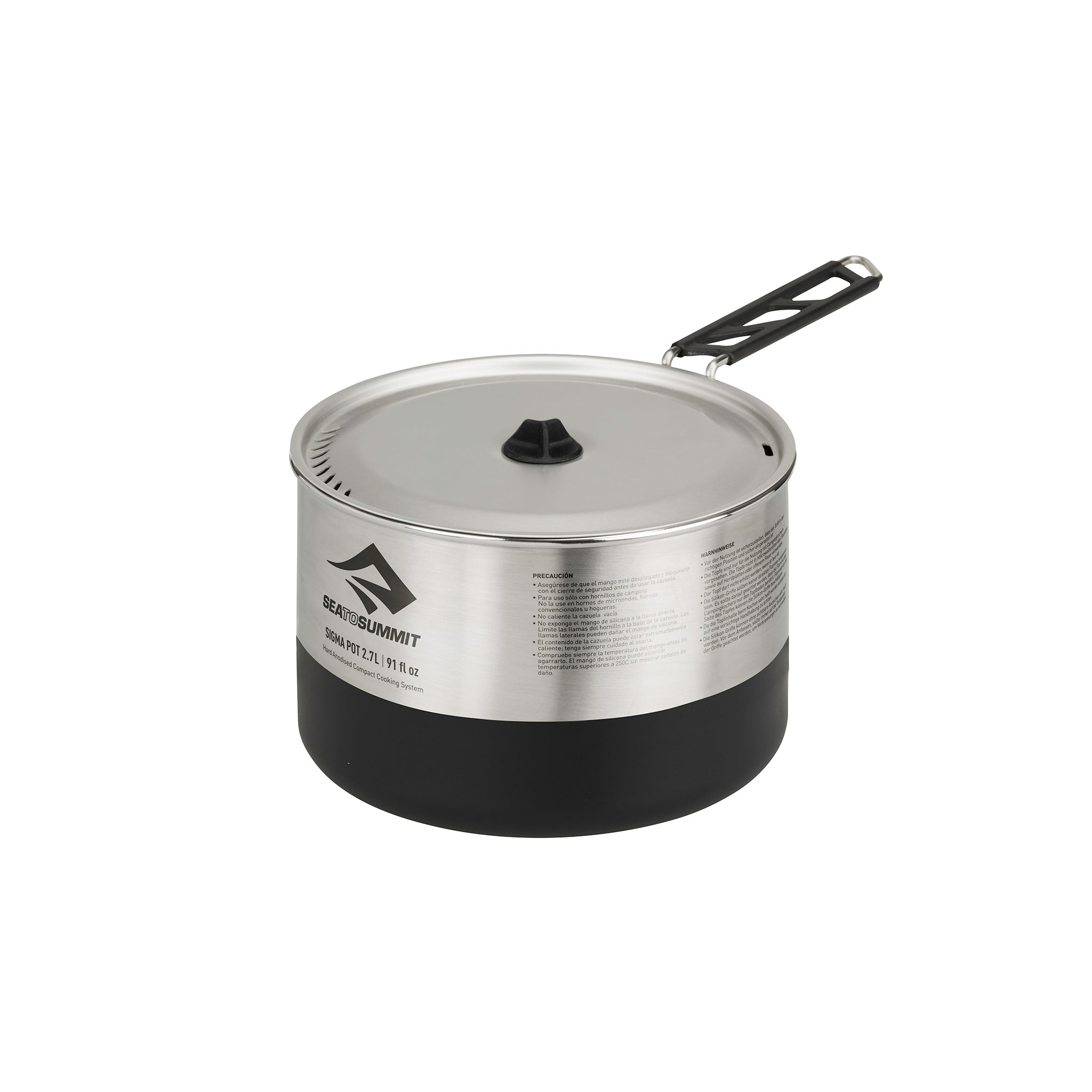 Sigma Stainless Steel Portable Pot for Camping _ 2.7 Liter