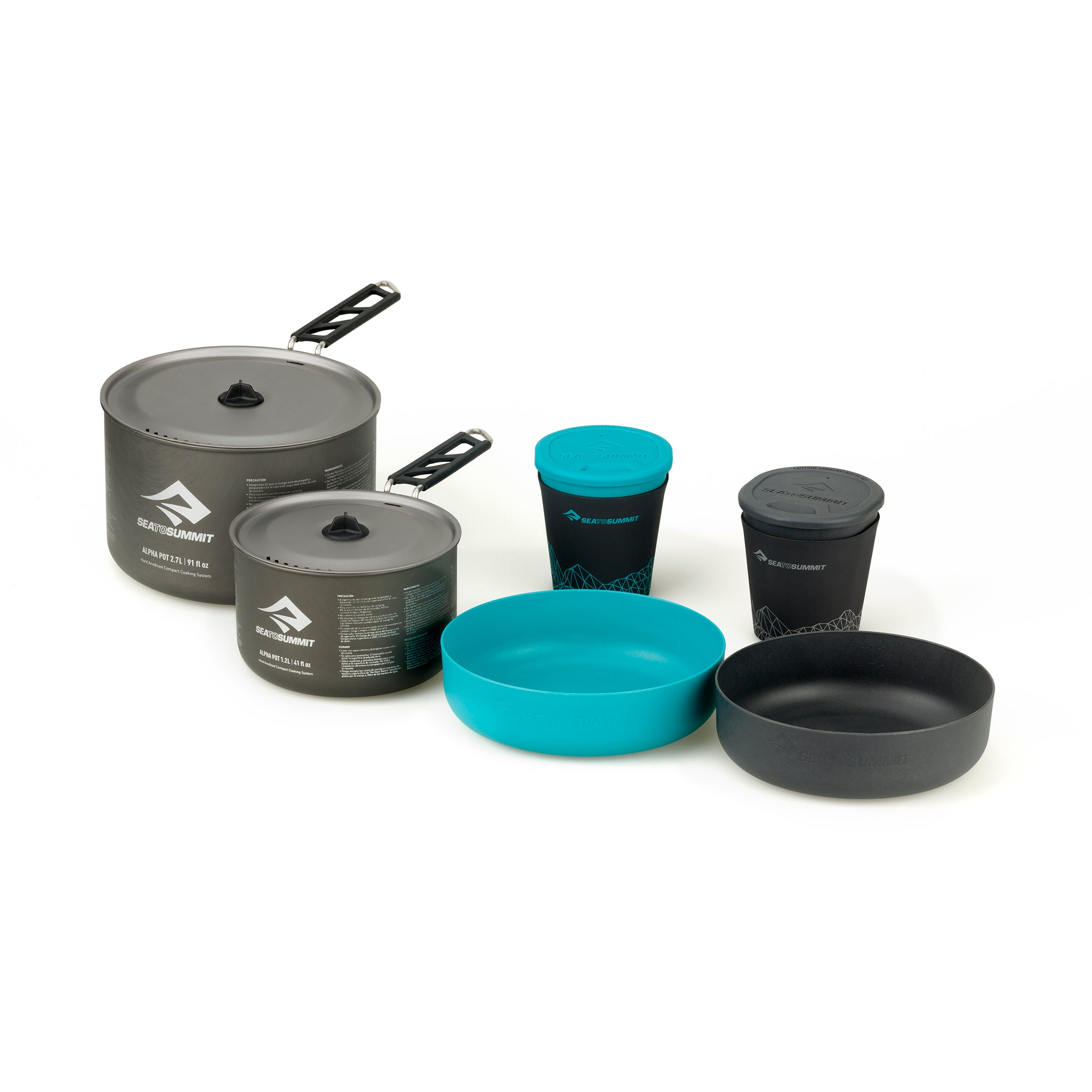 Alpha 2 Pot Cook Set 2.2 _ backpacking cook set _ pot bowl and mug _ two people