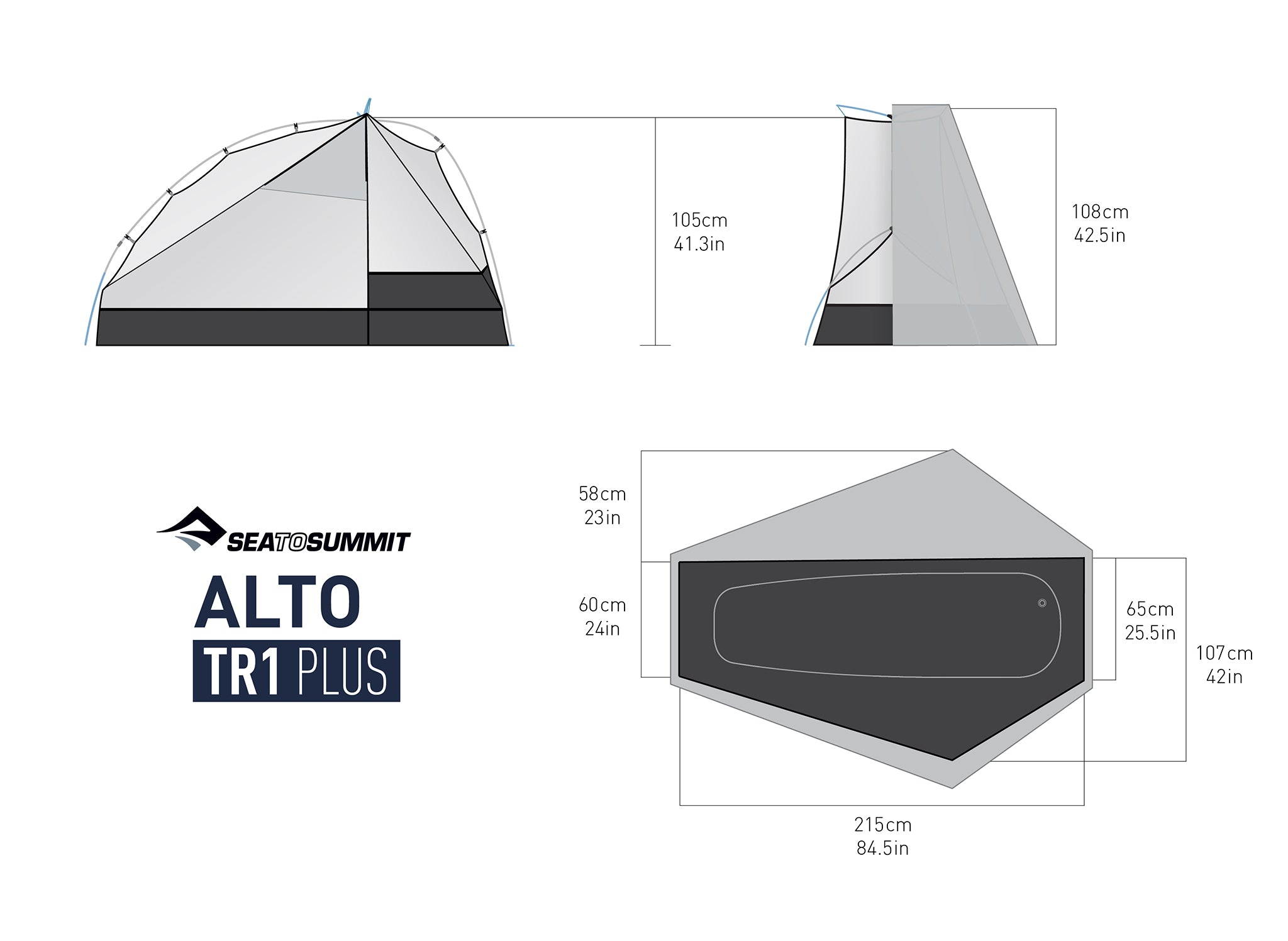 Alto™ TR1 Plus - One Person Ultralight Tent (3+ Season)