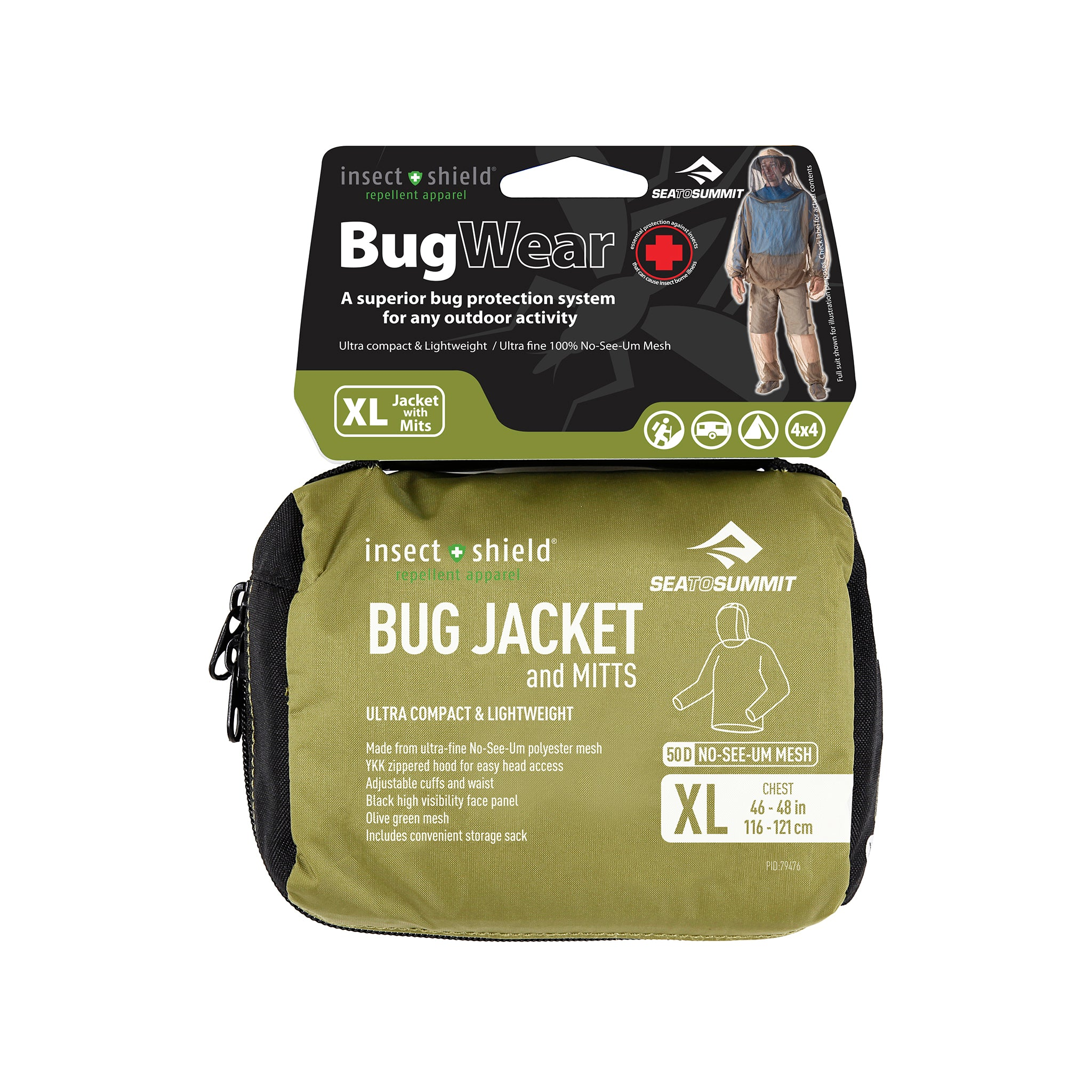 Bug Jacket _ mosquito protection clothing _ insect shield _ extra large
