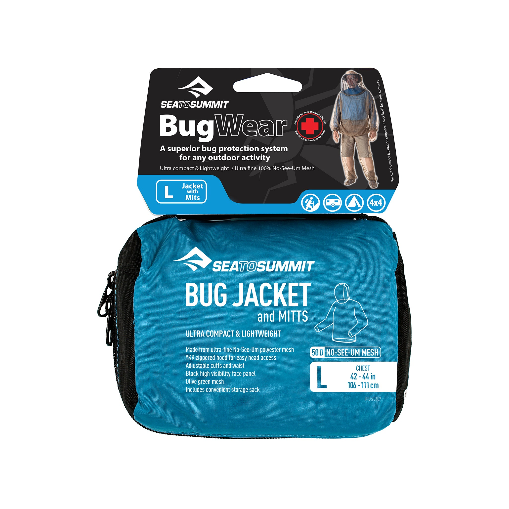 Bug Jacket _ mosquito protection clothing _ large