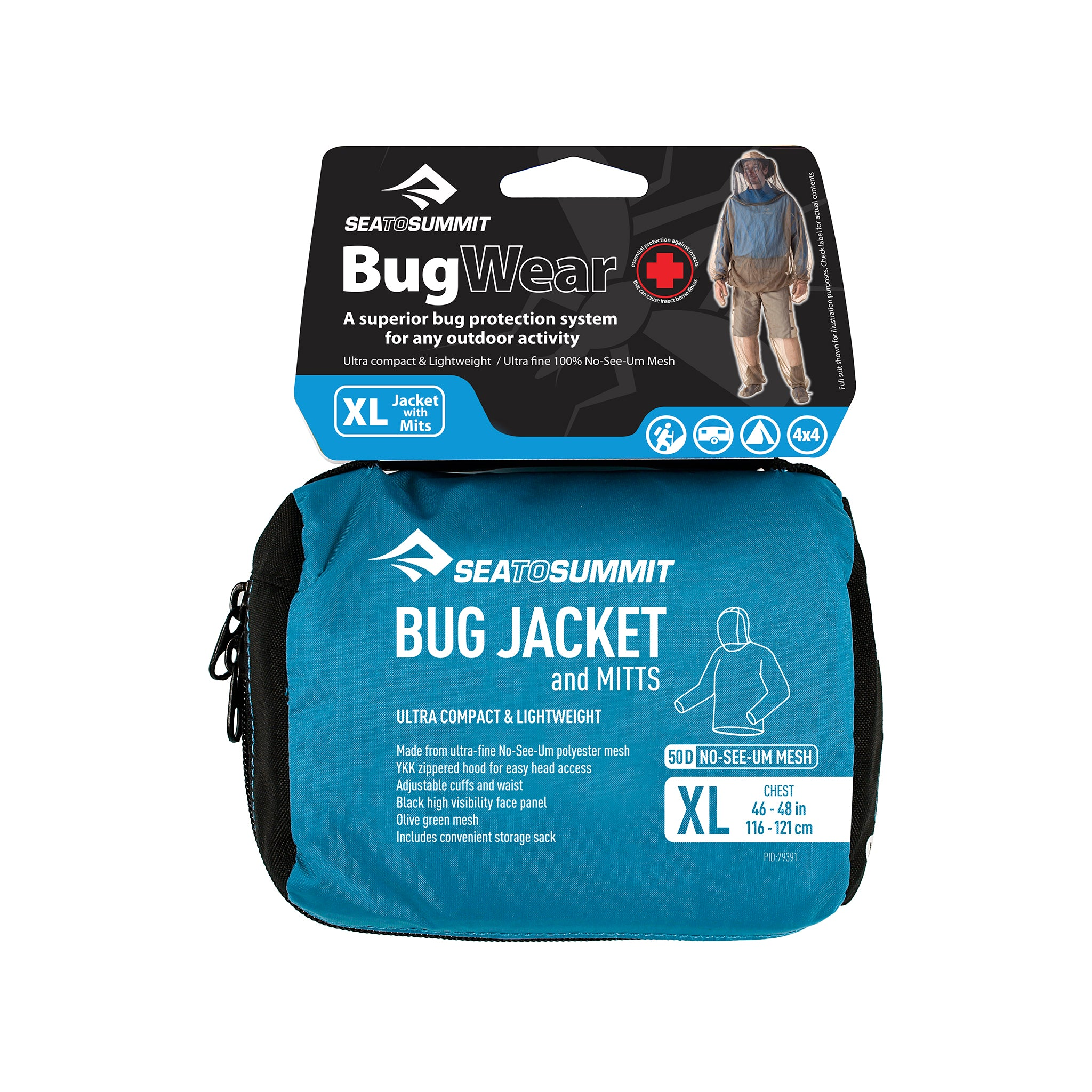 Bug Jacket _ mosquito protection clothing _ extra large