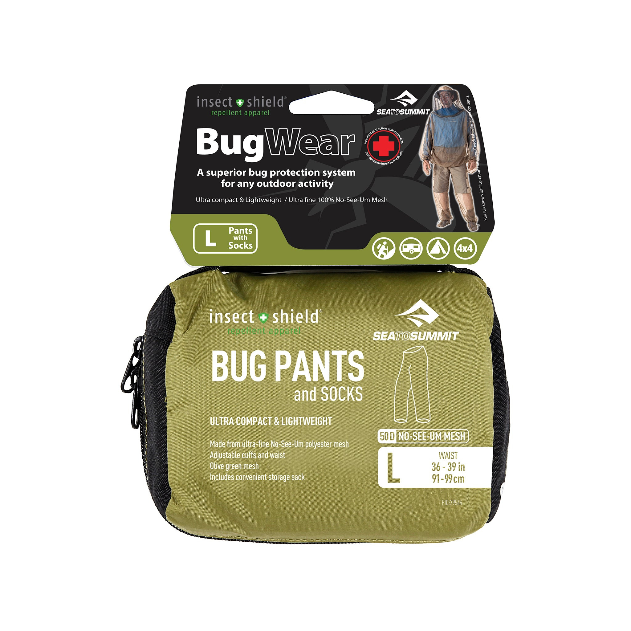 Bug Pants _ mosquito pant packaging _ insect shield _ large