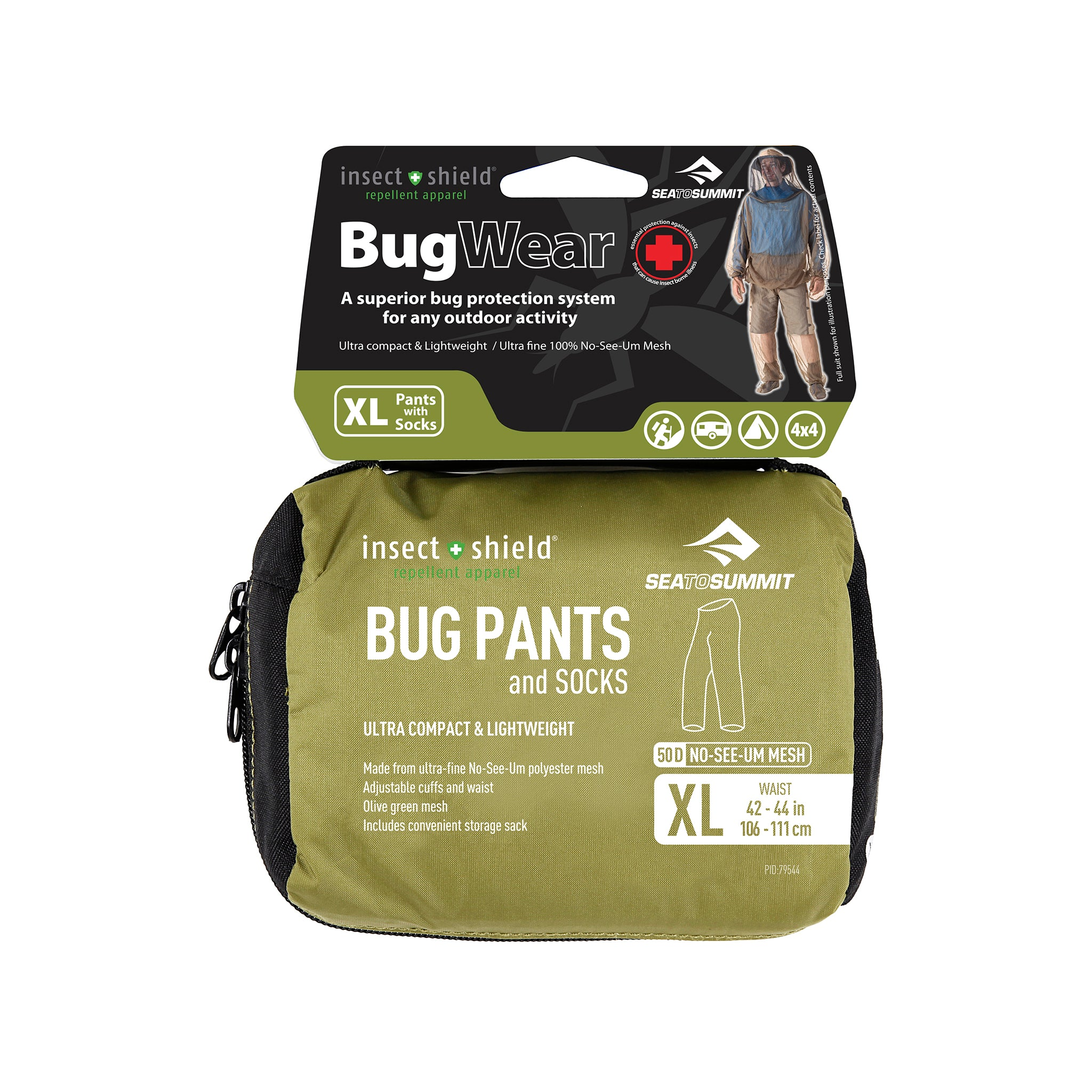 Bug Pants _ mosquito pant packaging _ insect shield _ extra large