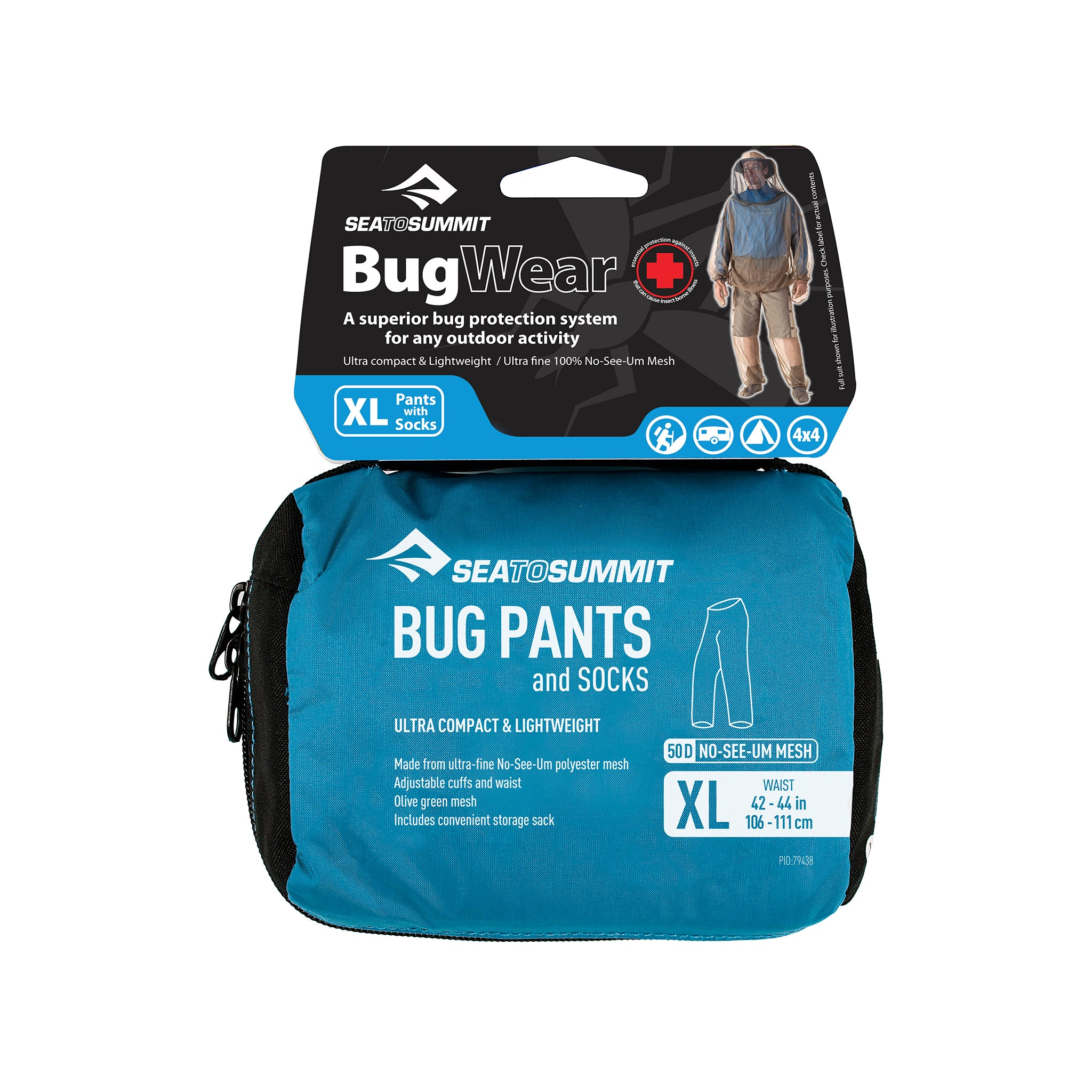Bug Pants _ mosquito pant packaging _ extra large
