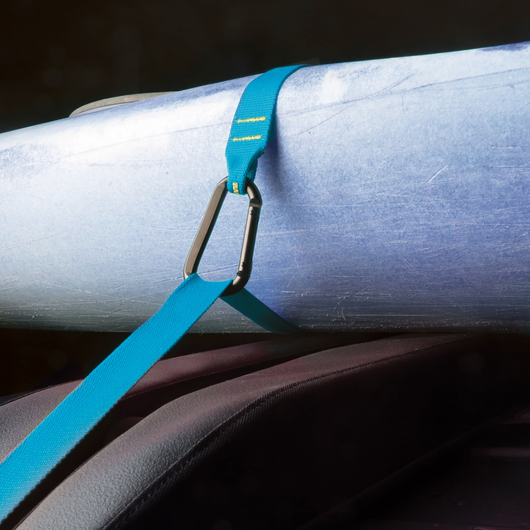 Carabiner Tie Down Ratchet Strap _ blue _ car rack