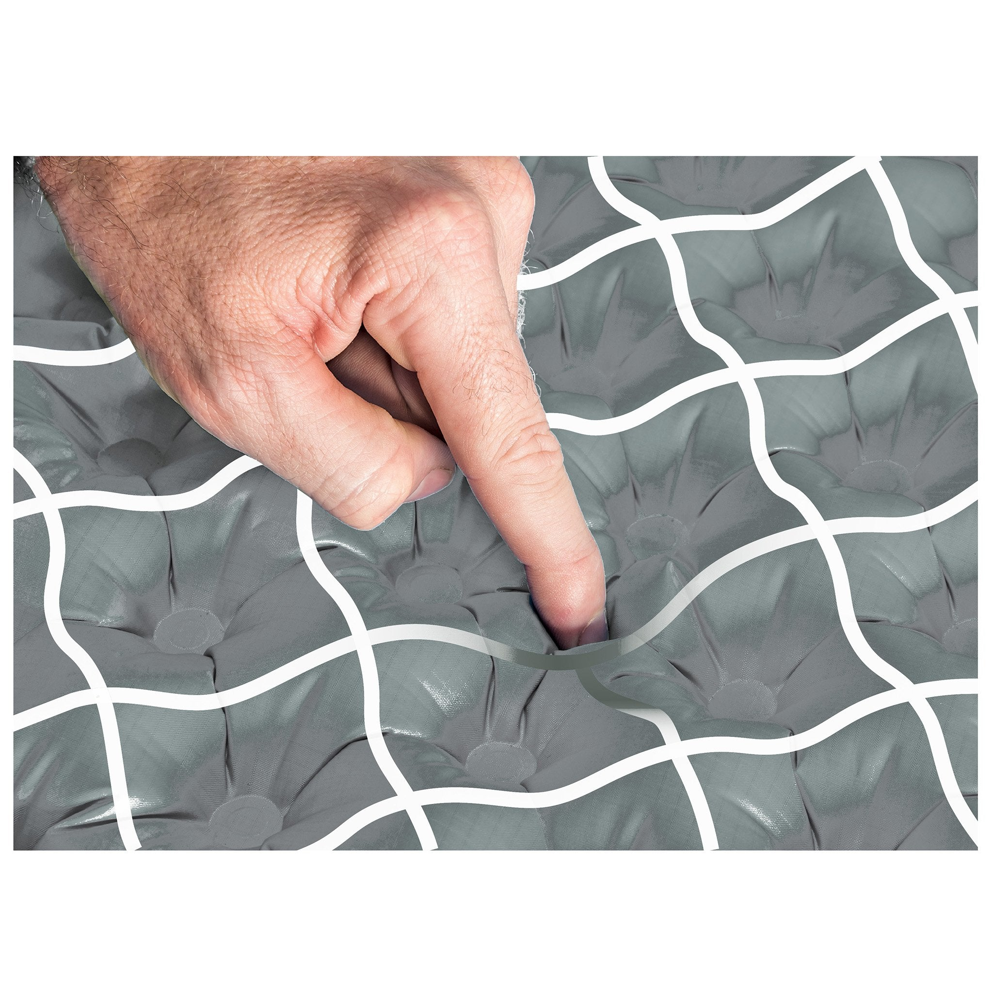 Comfort Plus sleeping air mat pad support side sleepers with air sprung cells.
