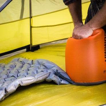 Comfort Plus sleeping air mat pad inflate quickly with an air stream pump.