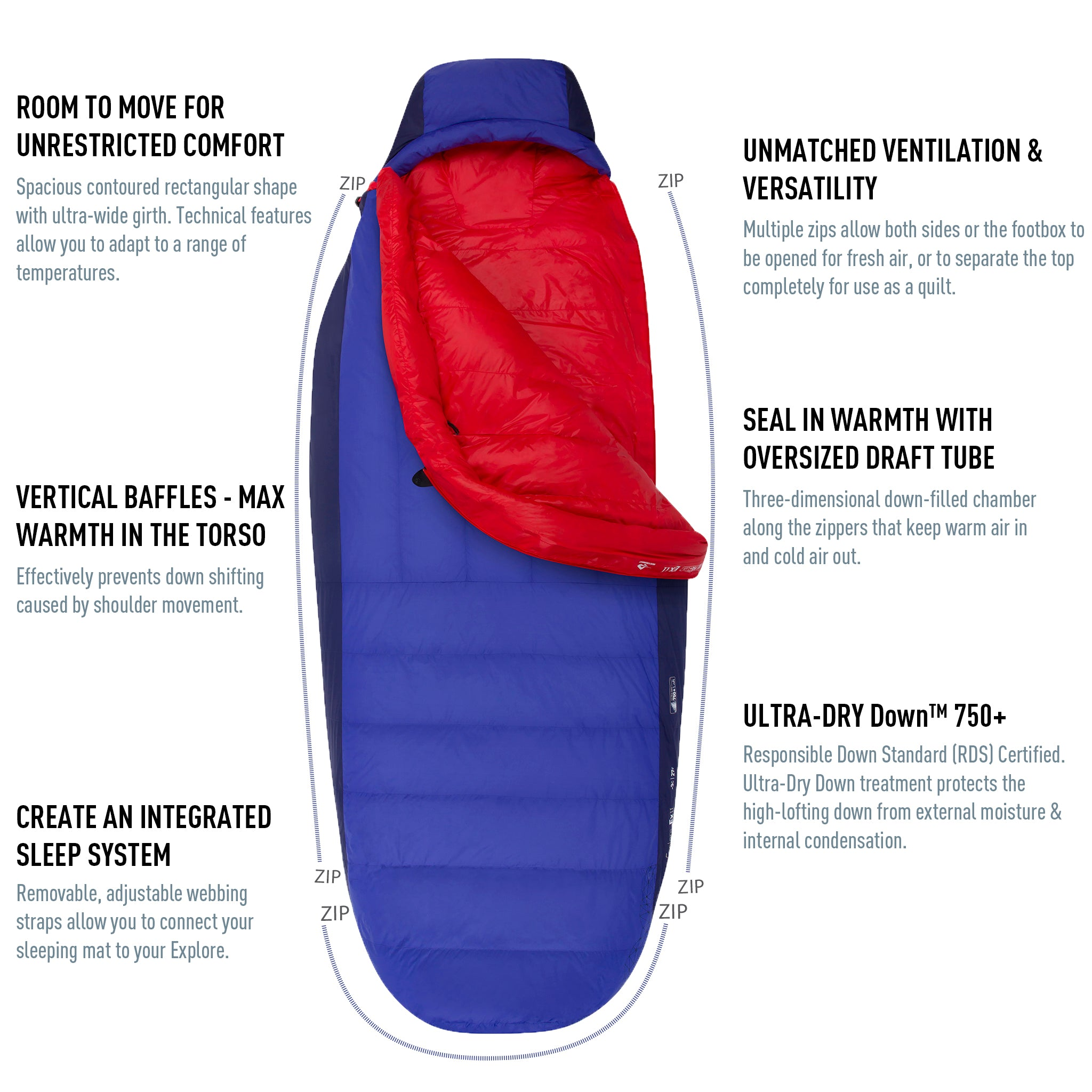 Amplitude Down Sleeping Bag (25°F & 5°F)