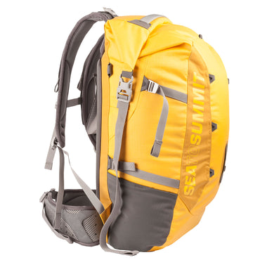 Flow 35L Drypack _ dry bag backpack _ yellow