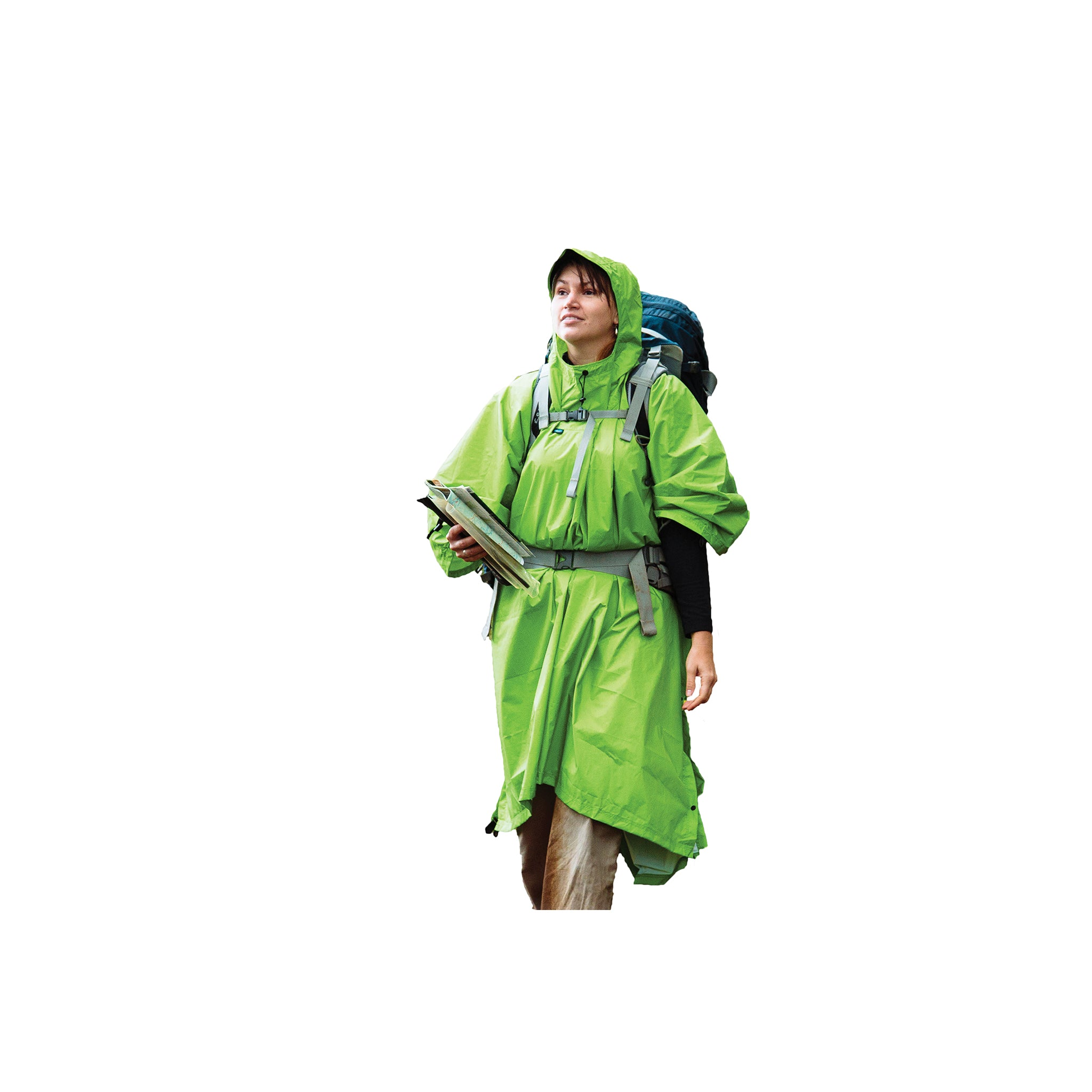 Nylon Tarp Poncho _ rain _ apple green