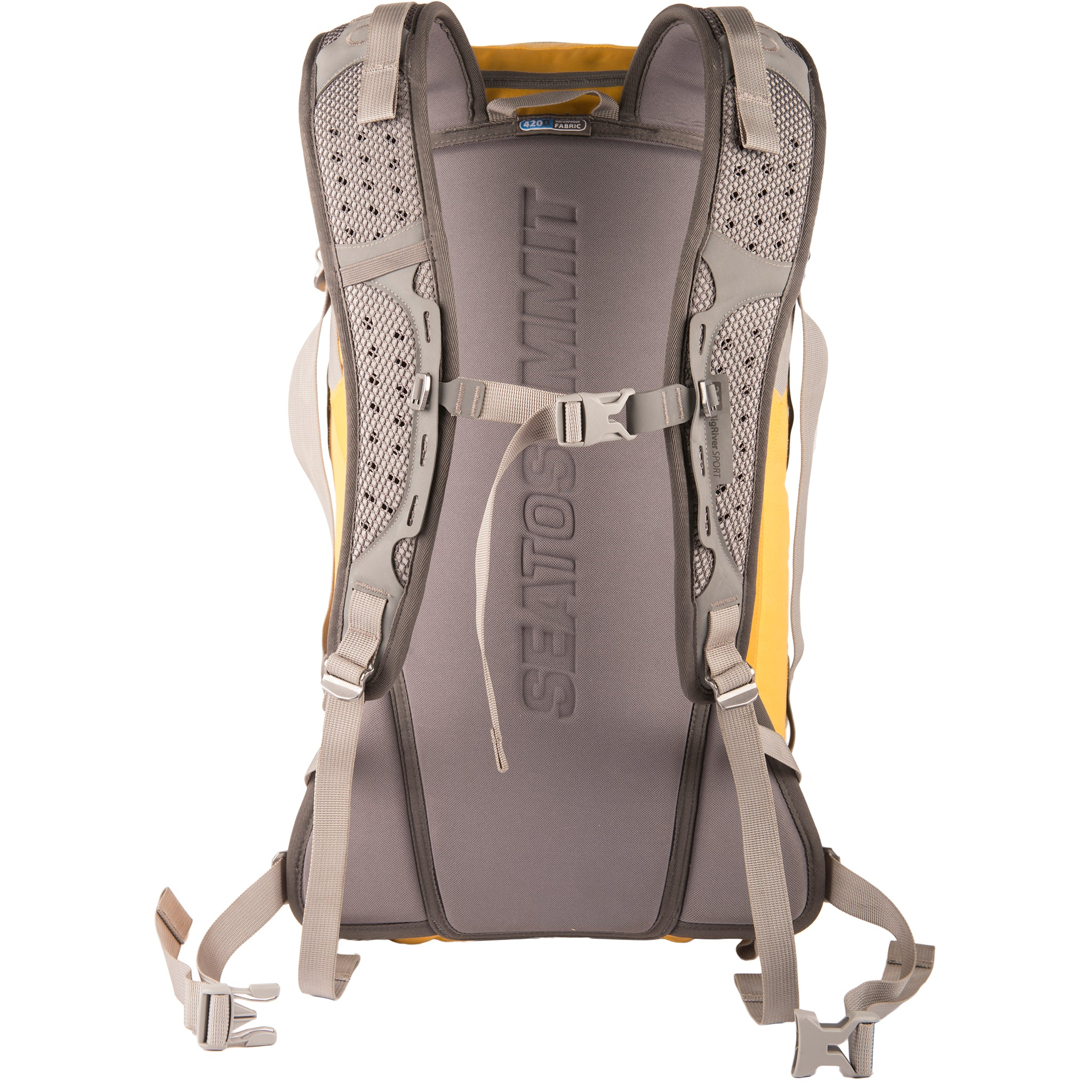 Rapid 26L Dry Pack _ dry bag backpack _ yellow _ straps