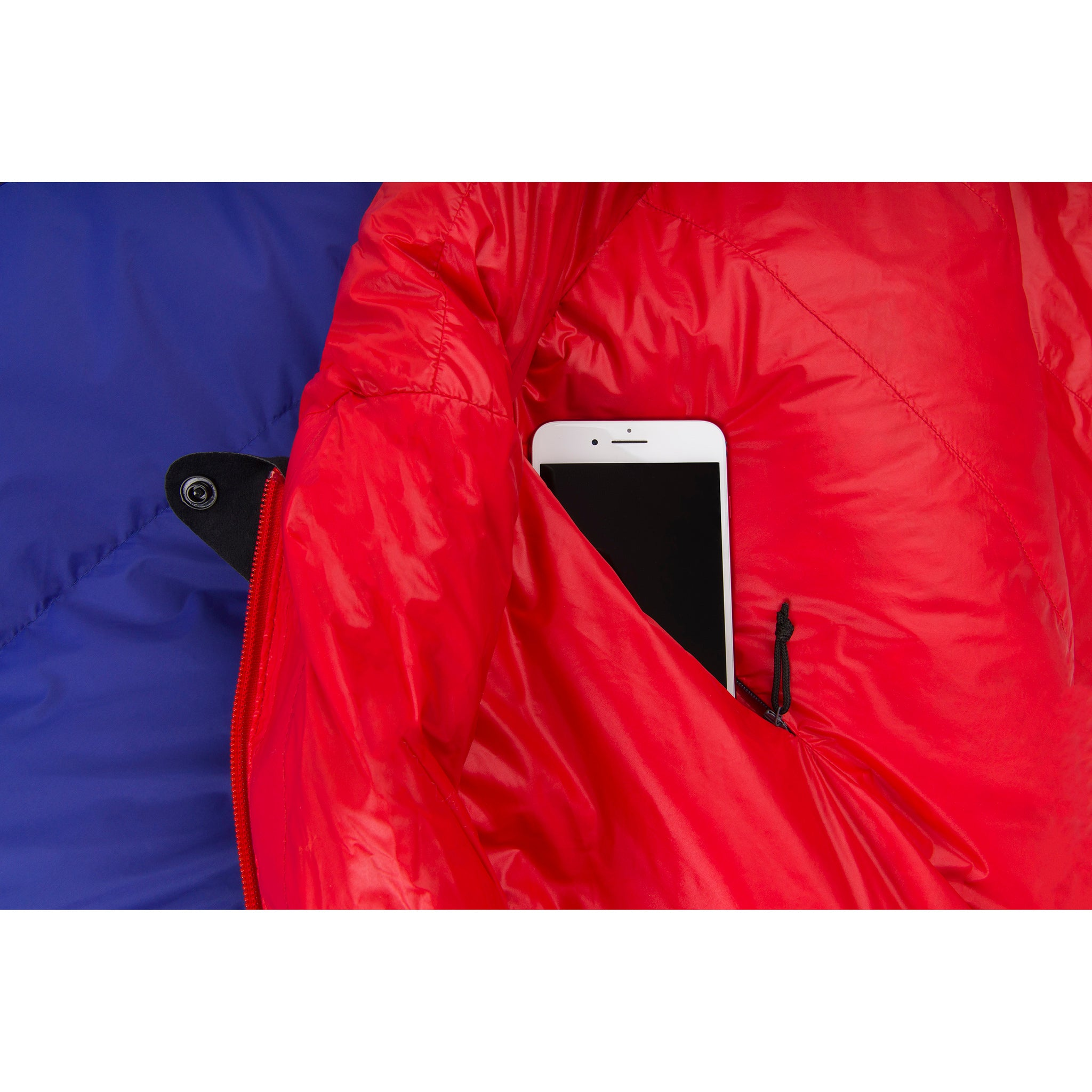 Explore Large Down Sleeping Bag _ cell phone pocket