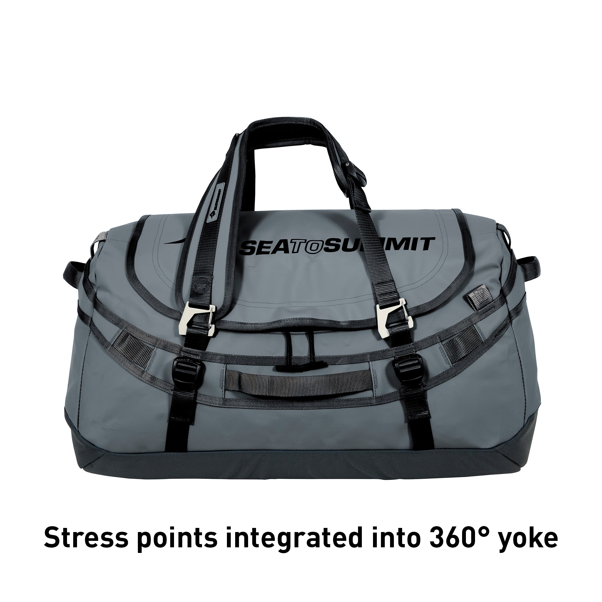 Sea to Summit Duffel with backpack straps _ charcoal