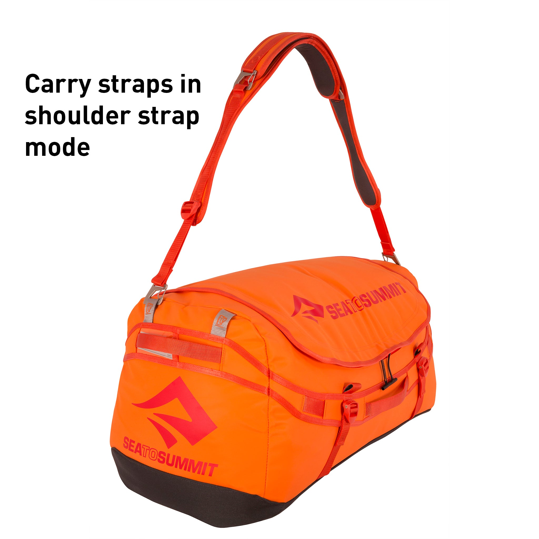 Sea to Summit Duffel with backpack straps _ orange