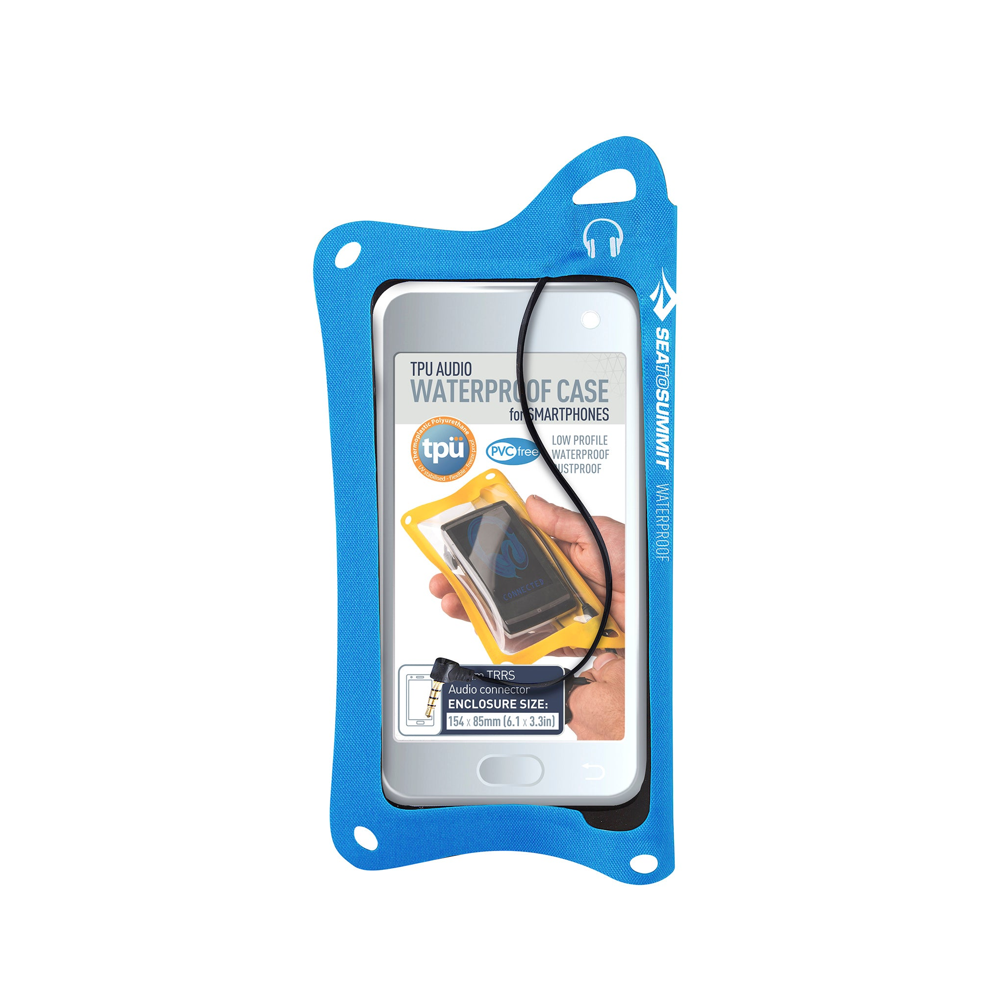 TPU Audio Waterproof Case for Phones _ iPhone _ blue