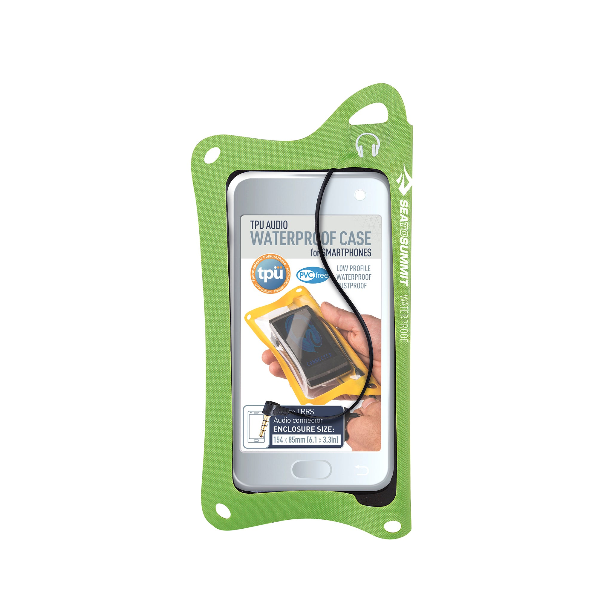 TPU Audio Waterproof Case for Phones _ iPhone _ green