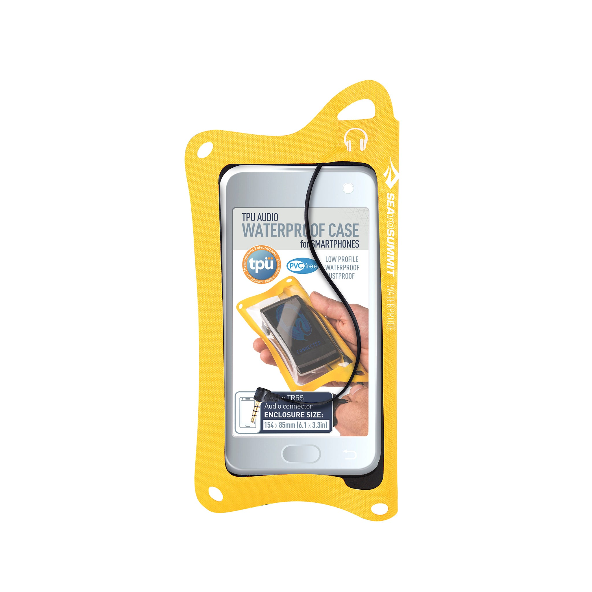 TPU Audio Waterproof Case for Phones _ iPhone _ yellow