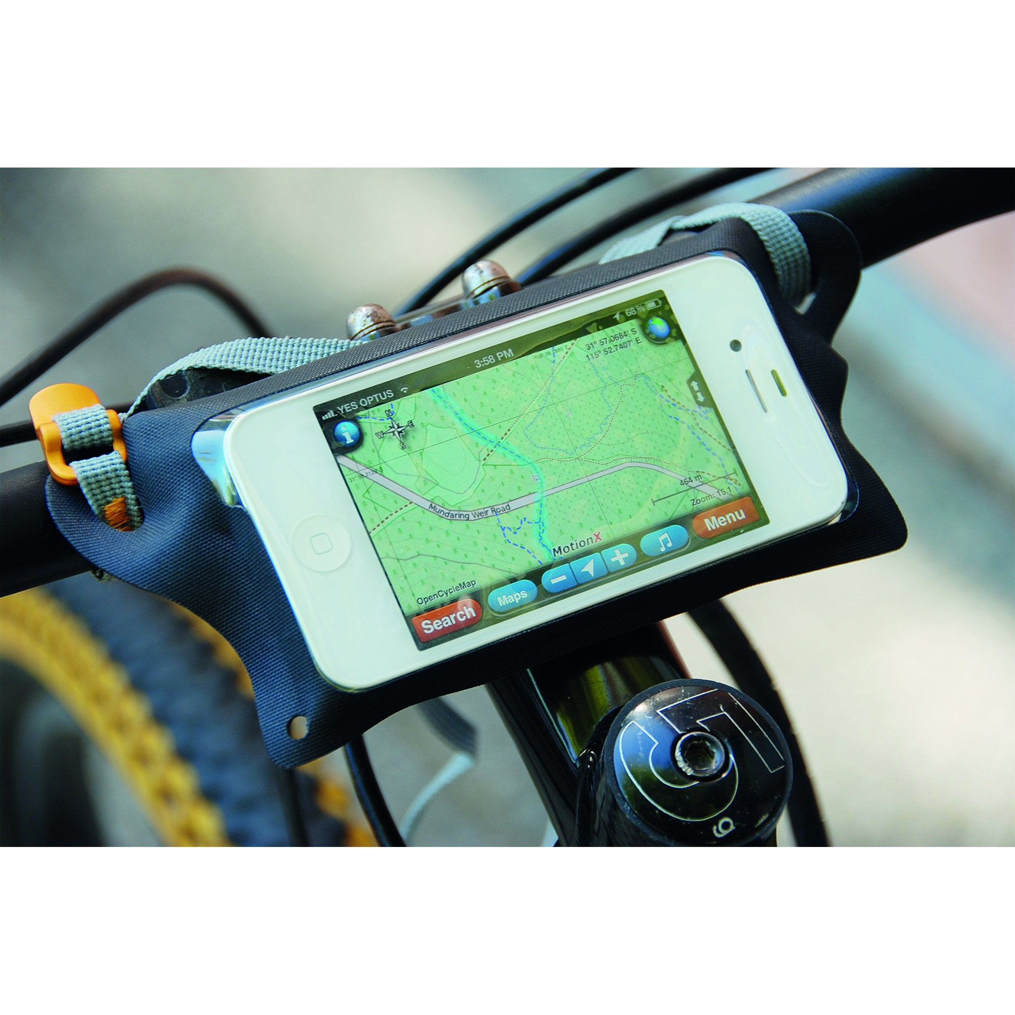 TPU Waterproof Case for Phone on Bike _ iPhone _ black