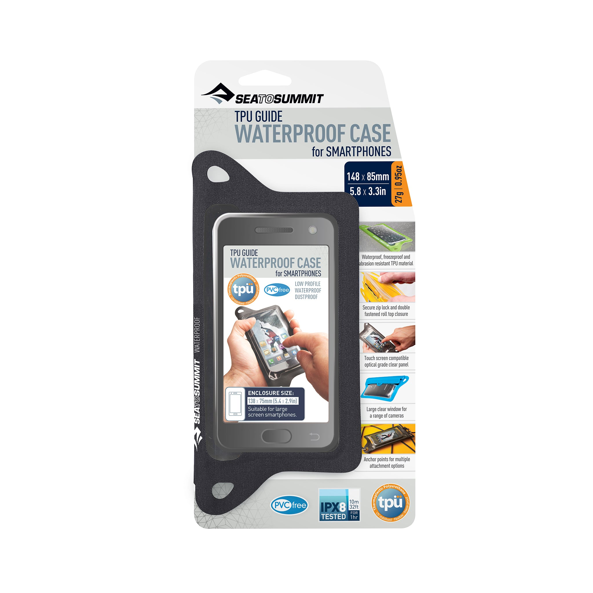 TPU Waterproof Case for Phones _ iPhone _ black