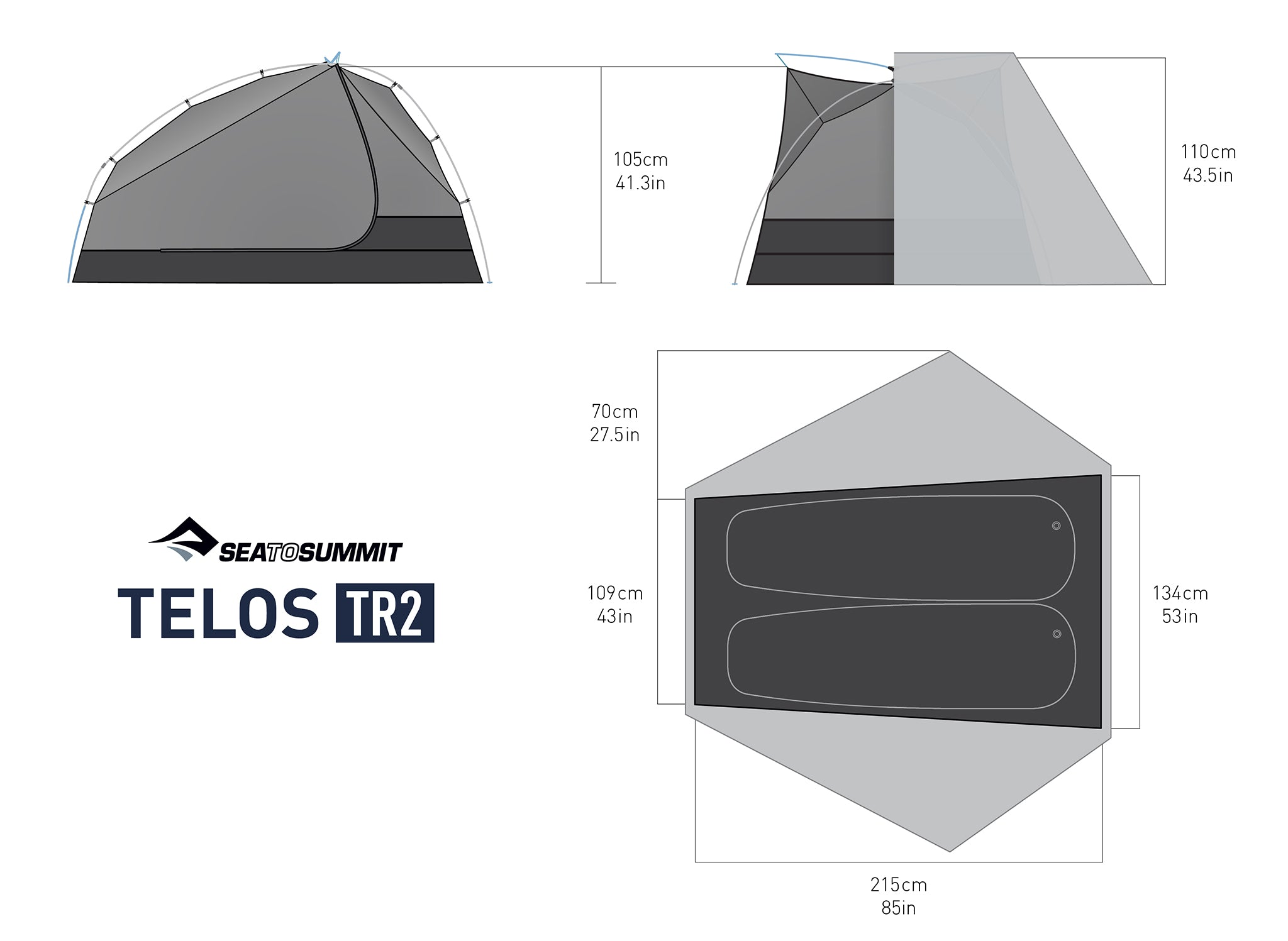 Telos™ TR2 - Two Person Freestanding Tent