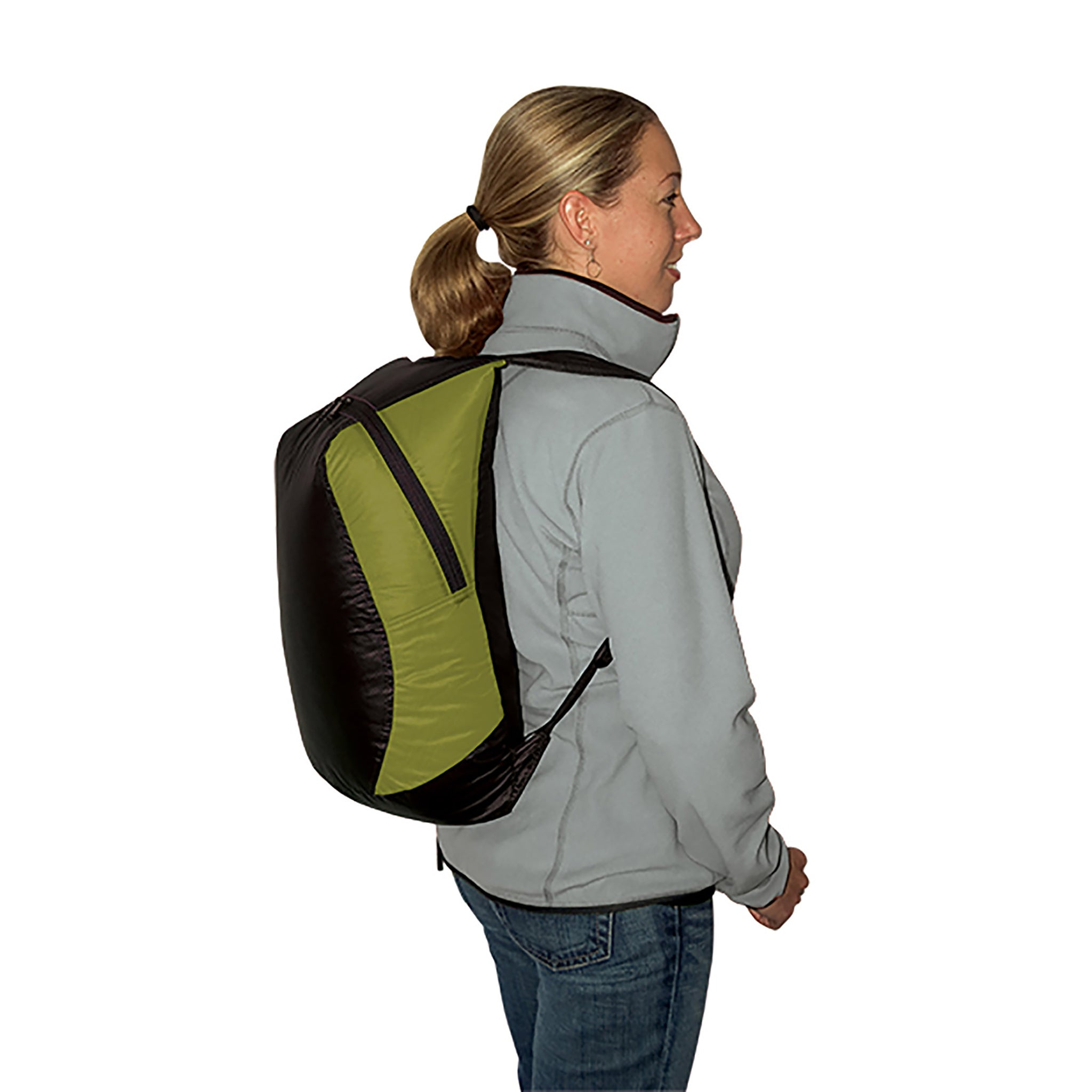 Travel Compressible Daypack _ lime