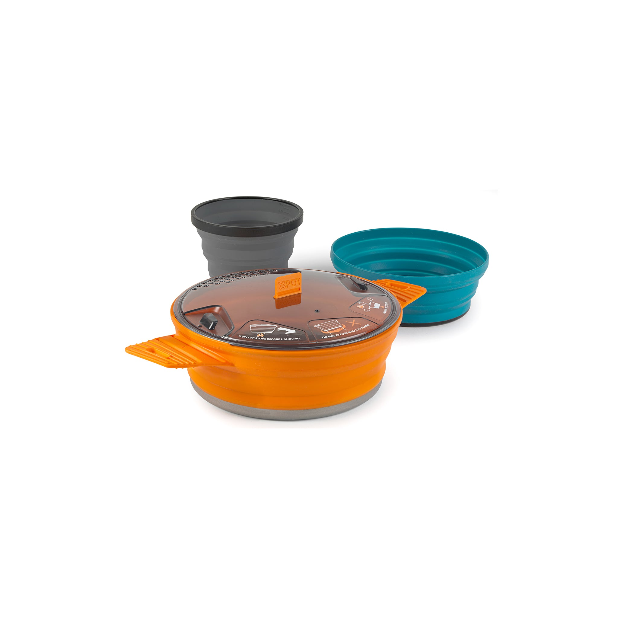 X-Set 21 set _ collapsible backpacking cooking pot _ x pot x cup and x bowl