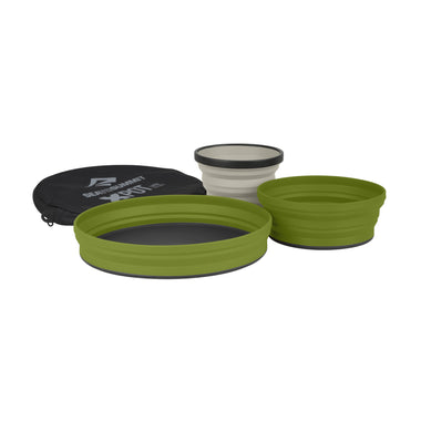 X-Set 3-Piece: X-Plate, X-Bowl, X-Mug with X-Pouch