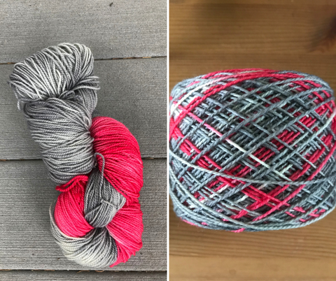 Hand-dyed Kraemer Yarn, in the skein and caked