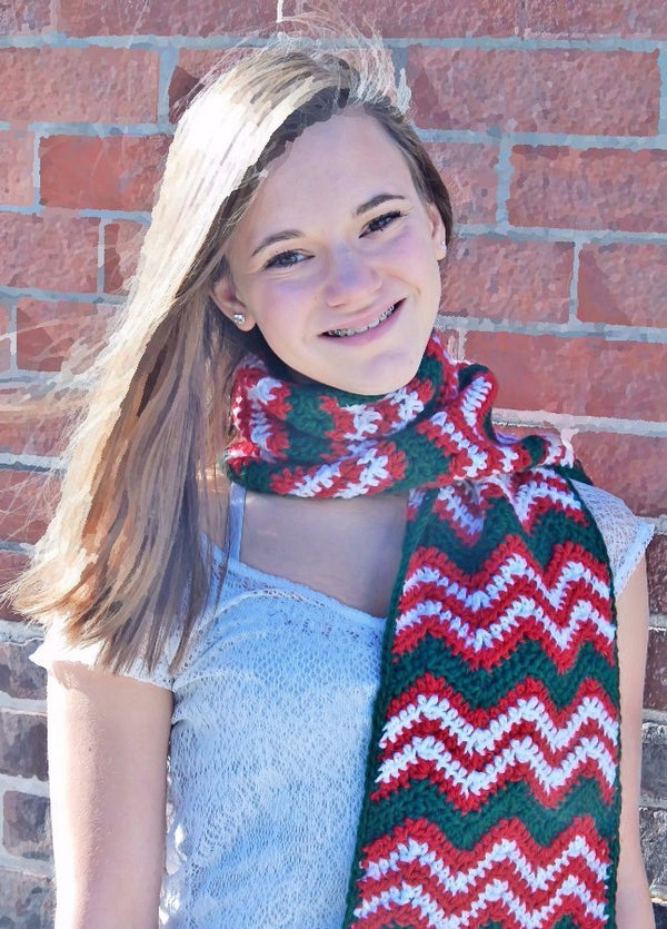 Merry Pompom Scarf Kit - Designed by Karen McKenna