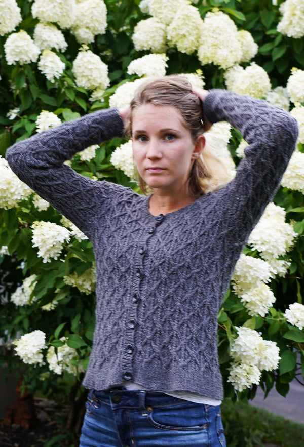 Thatched Country Cardigan Kit - Designed by Vanessa Ewing