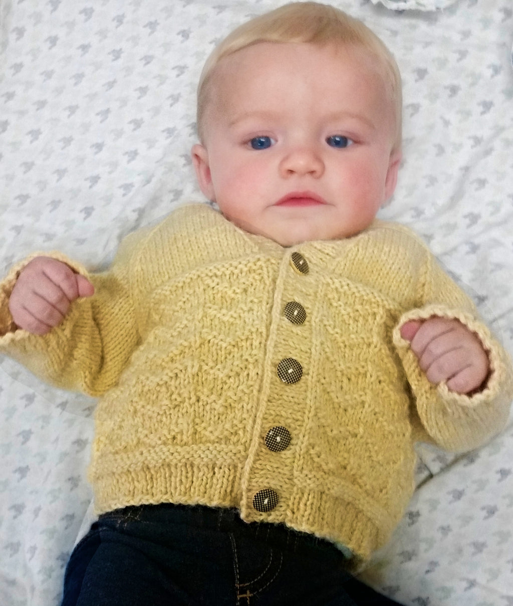Wavy Baby Sweater - Designed by Carla A. Sturgis and Judy Head