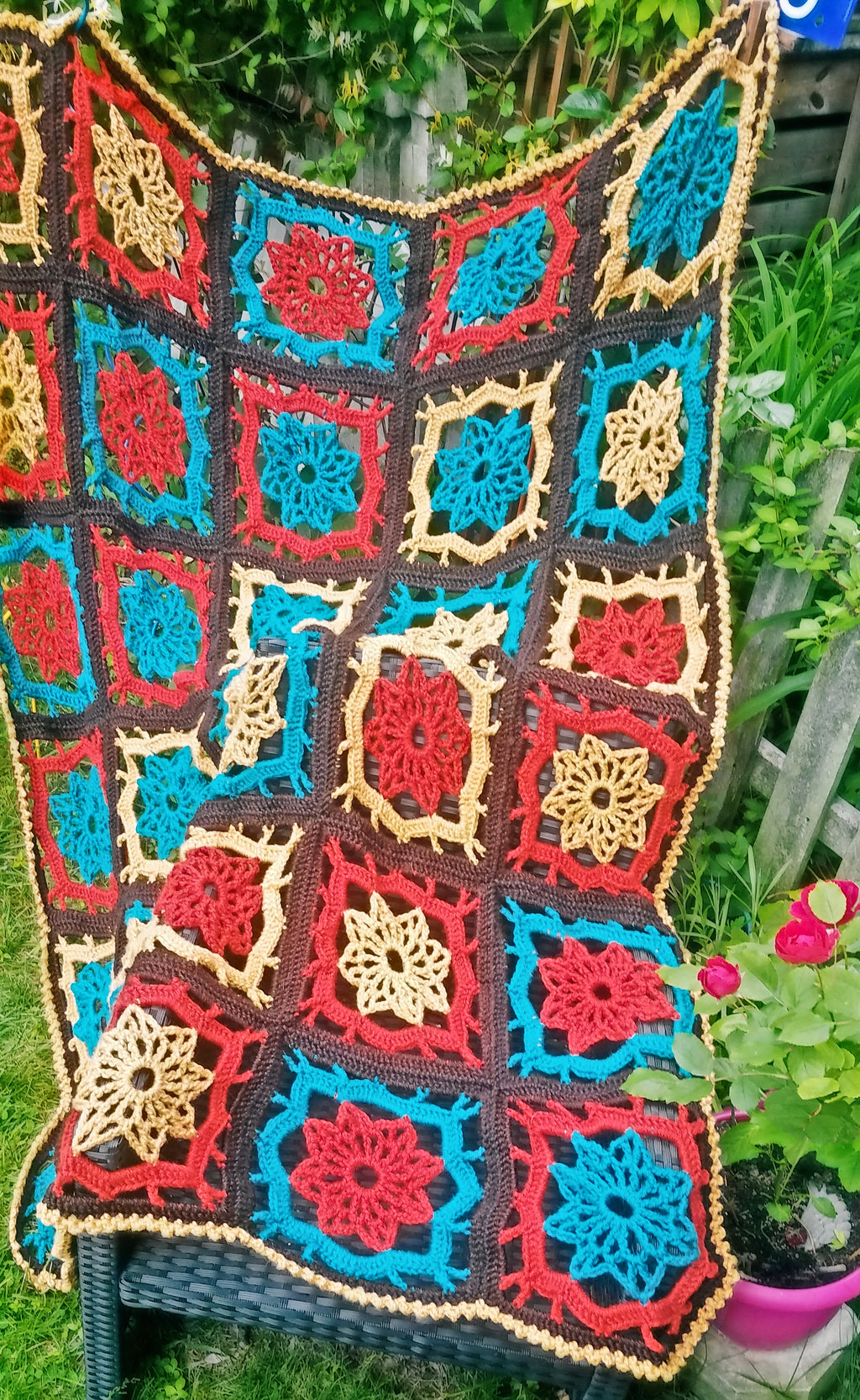 Cardamom and Coriander Afghan - Designed by Rose Tussing