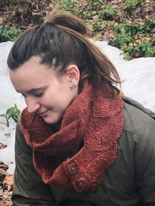 Tunisian Braided Scarf - Designed by Karen McKenna