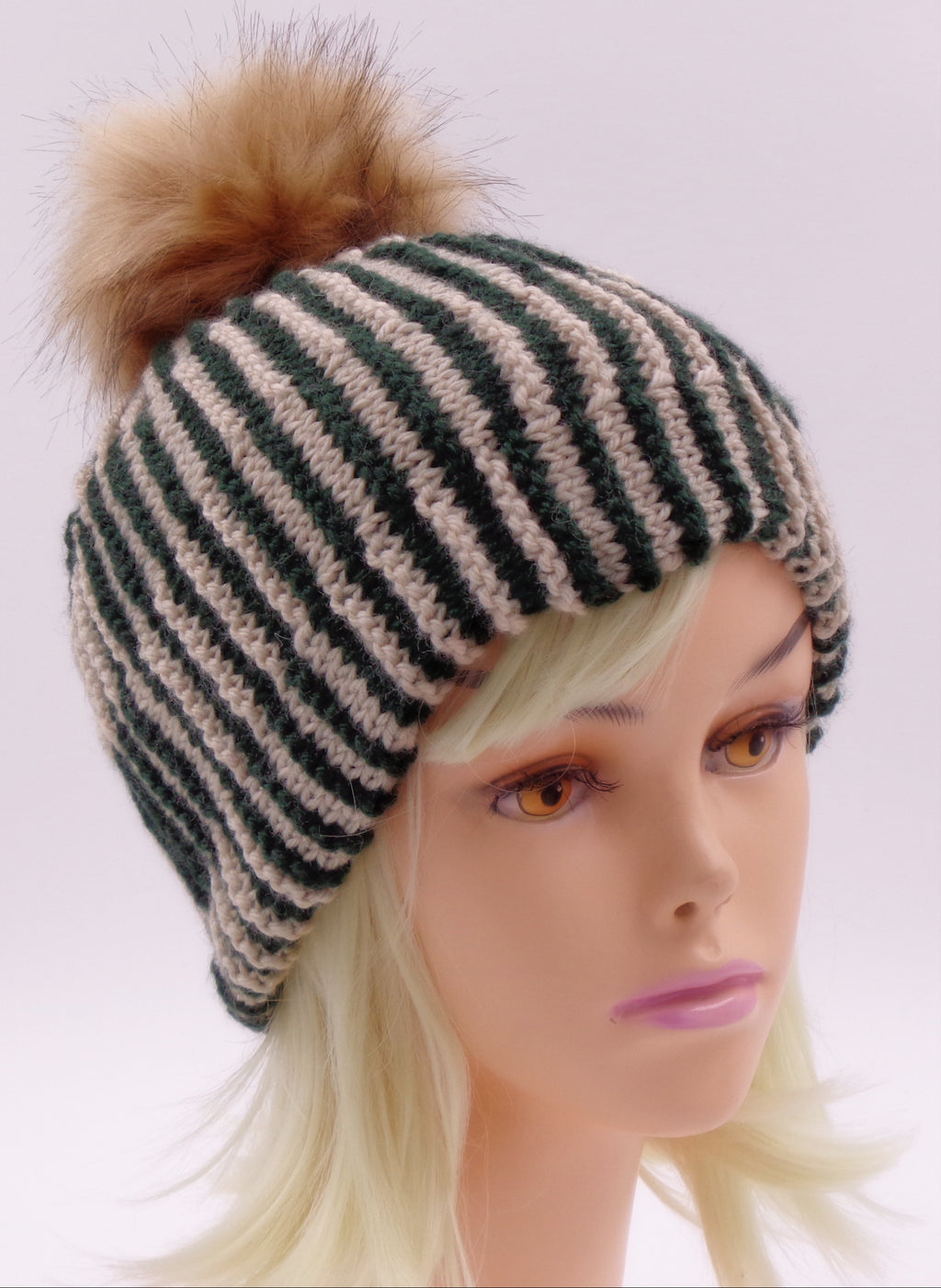 Shadow Knit Checkered Hat -Designed by Clara Masessa