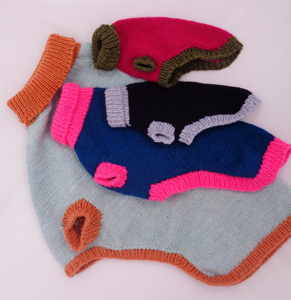 Knit Poochie Keen Pullover Kit  - Designed by Beth Aidala