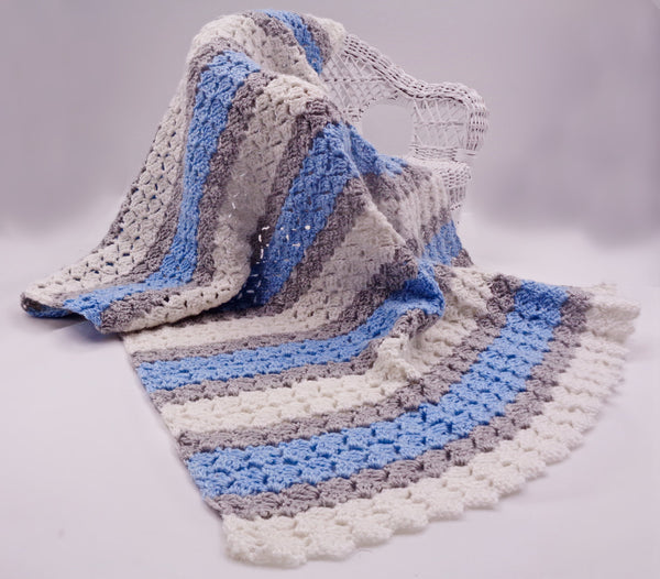Gentle Waves Receiving Blanket - Designed by Alison Dean