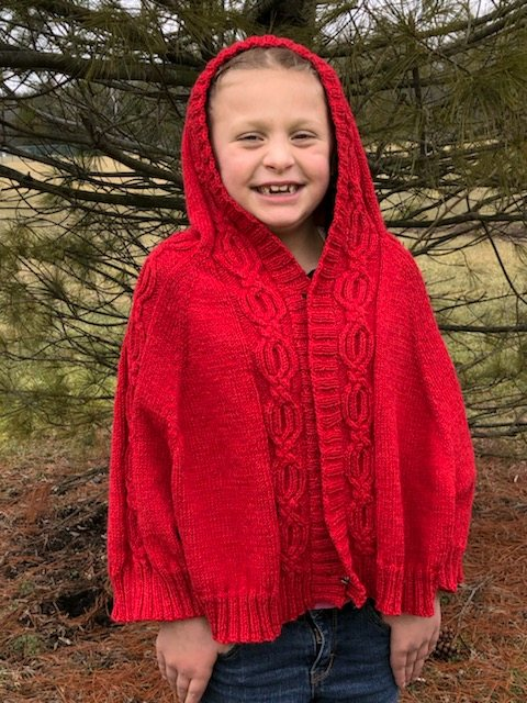 Kid's Mythical Heart Cardi-Cape
