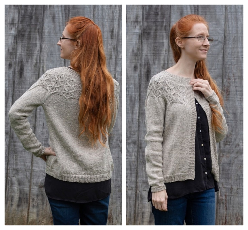 Reading Room Cardigan - Designed by Vanessa Ewing